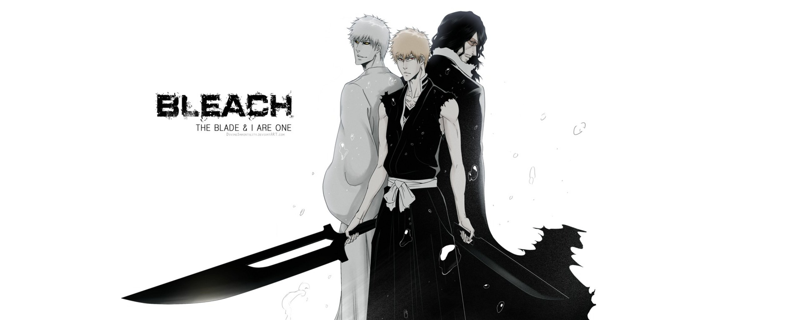 Free Zangetsu (Bleach) high quality background ID:419153 for dual monitor 2569x1024 computer