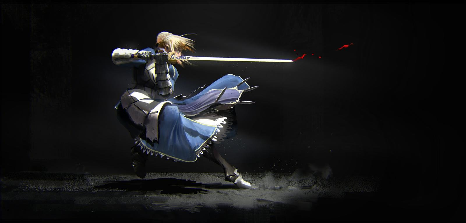 High resolution Fate/Stay Night: Unlimited Blade Works hd 1600x768 background ID:291043 for computer