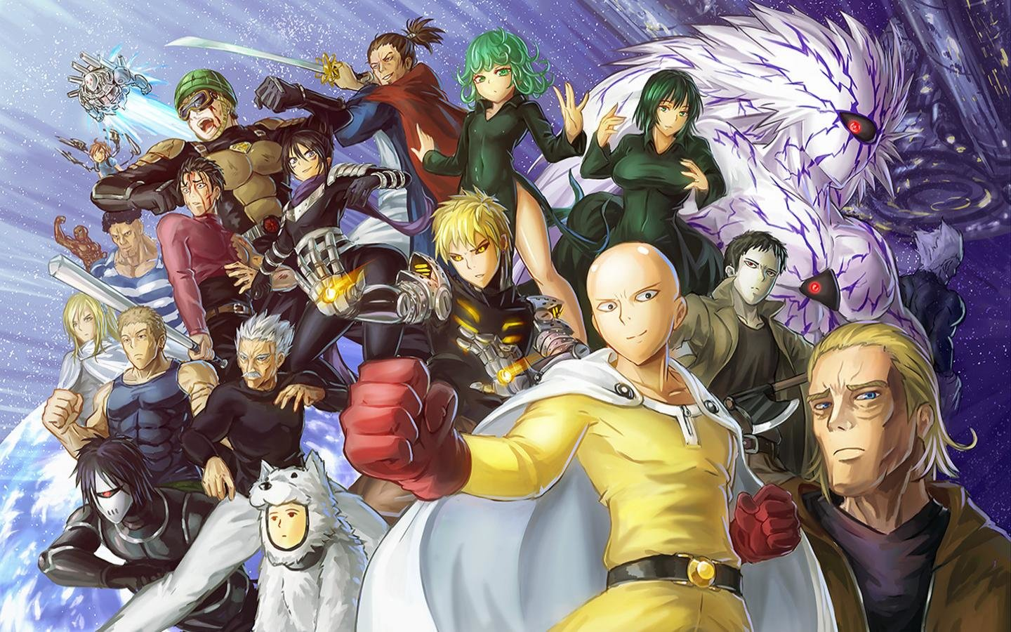 Download hd 1440x900 One-Punch Man PC wallpaper ID:345253 for free