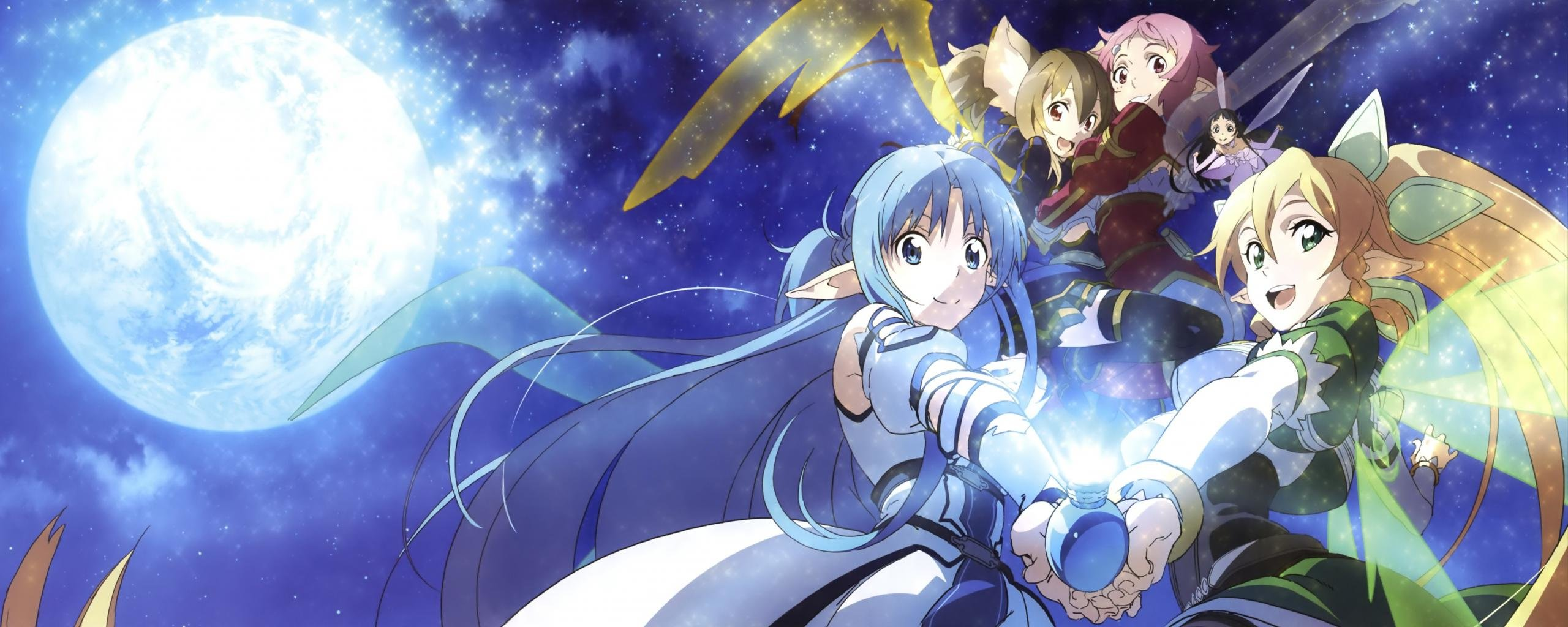 Free Sword Art Online 2 (II) high quality background ID:112473 for dual monitor 2569x1024 computer