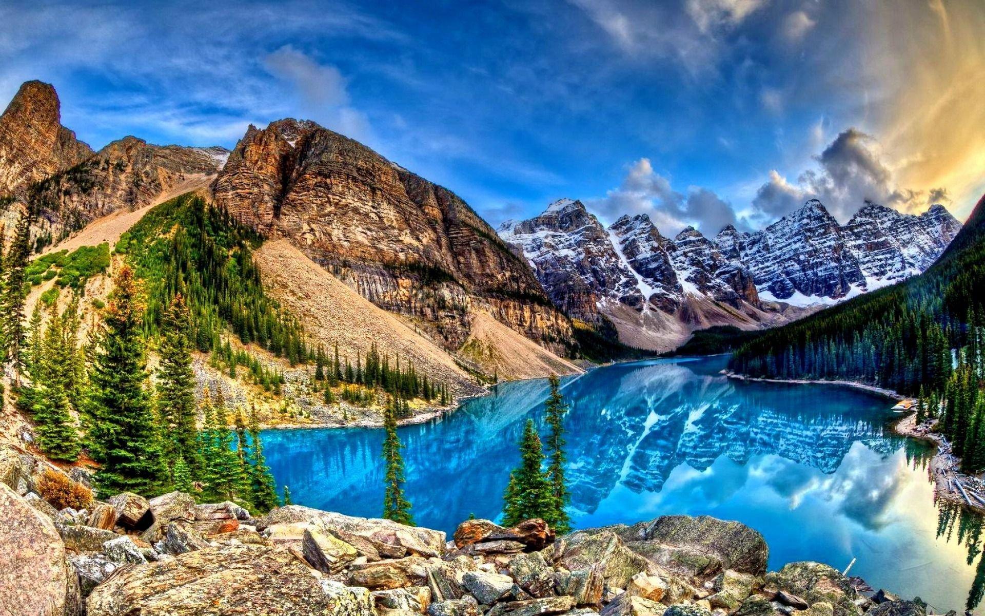 Download Hd 1920x1200 Moraine Lake Desktop Background Id