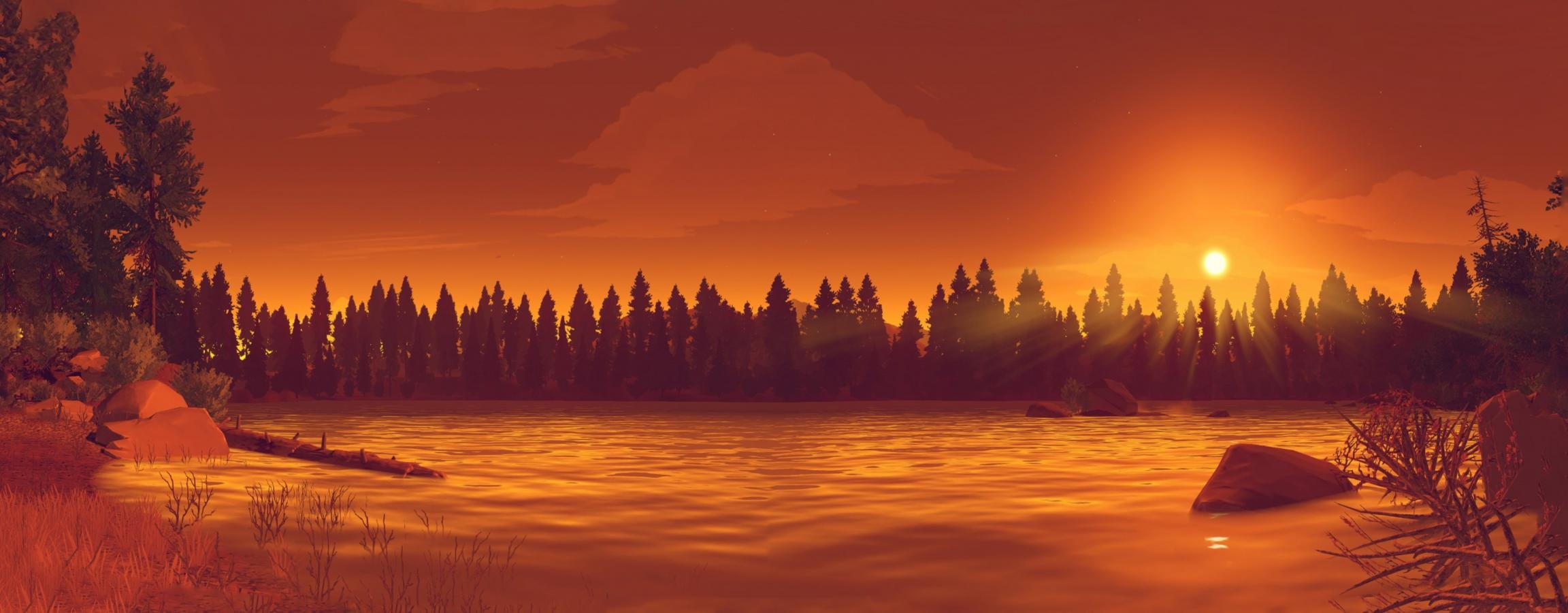 High resolution Firewatch dual monitor 2304x900 background ID:468005 for computer