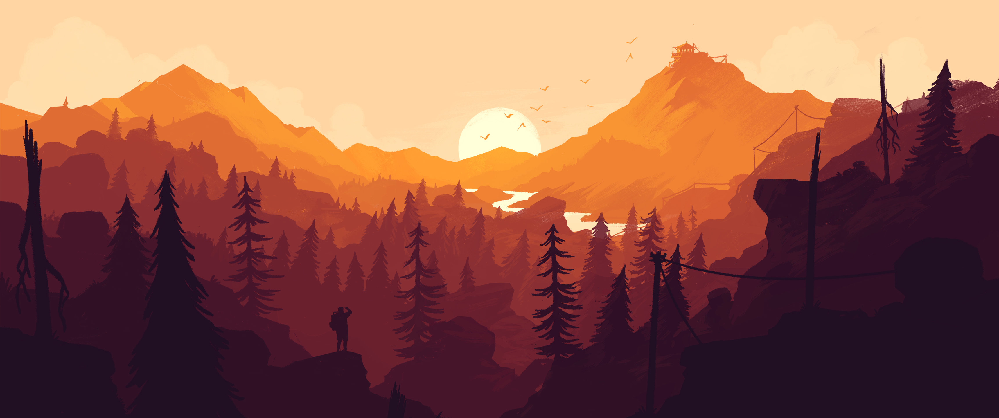 Awesome Firewatch free background ID:468004 for hd 3440x1440 PC