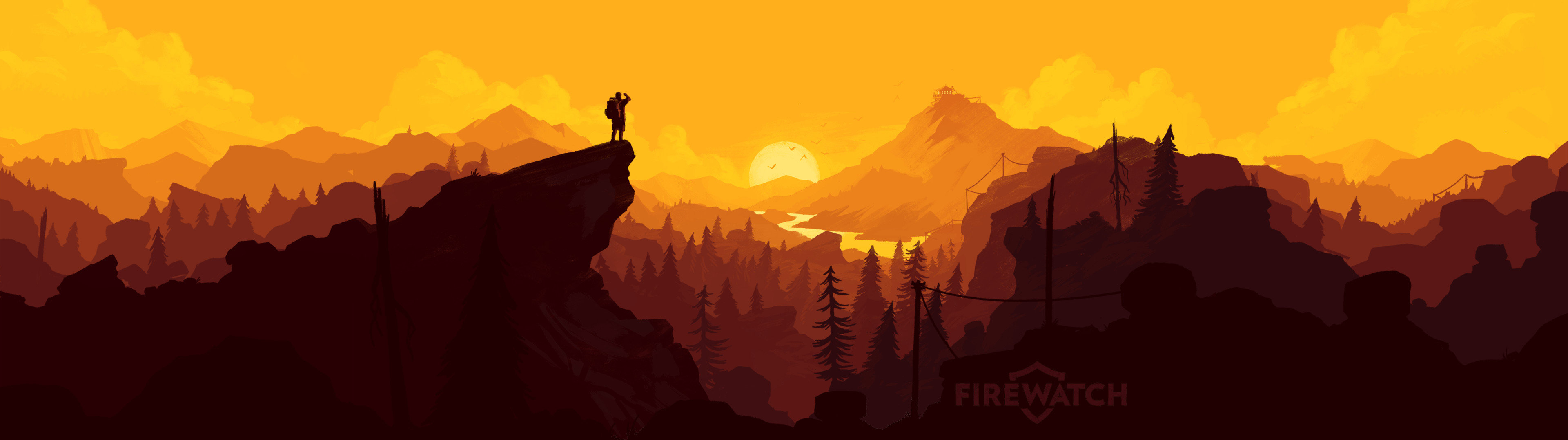 Dual monitor Firewatch wallpapers, HD backgrounds