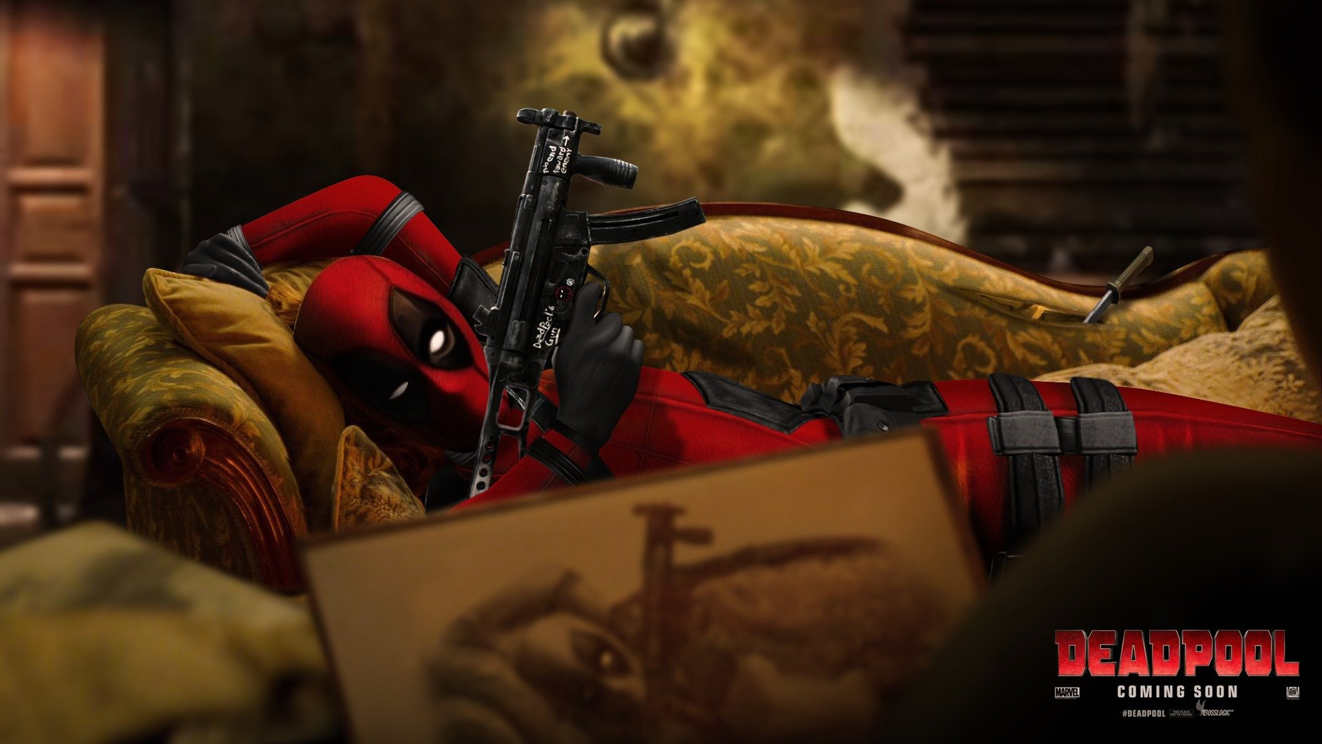 Download Full Hd 1080p Deadpool Movie Computer Background Id 340811 For Free