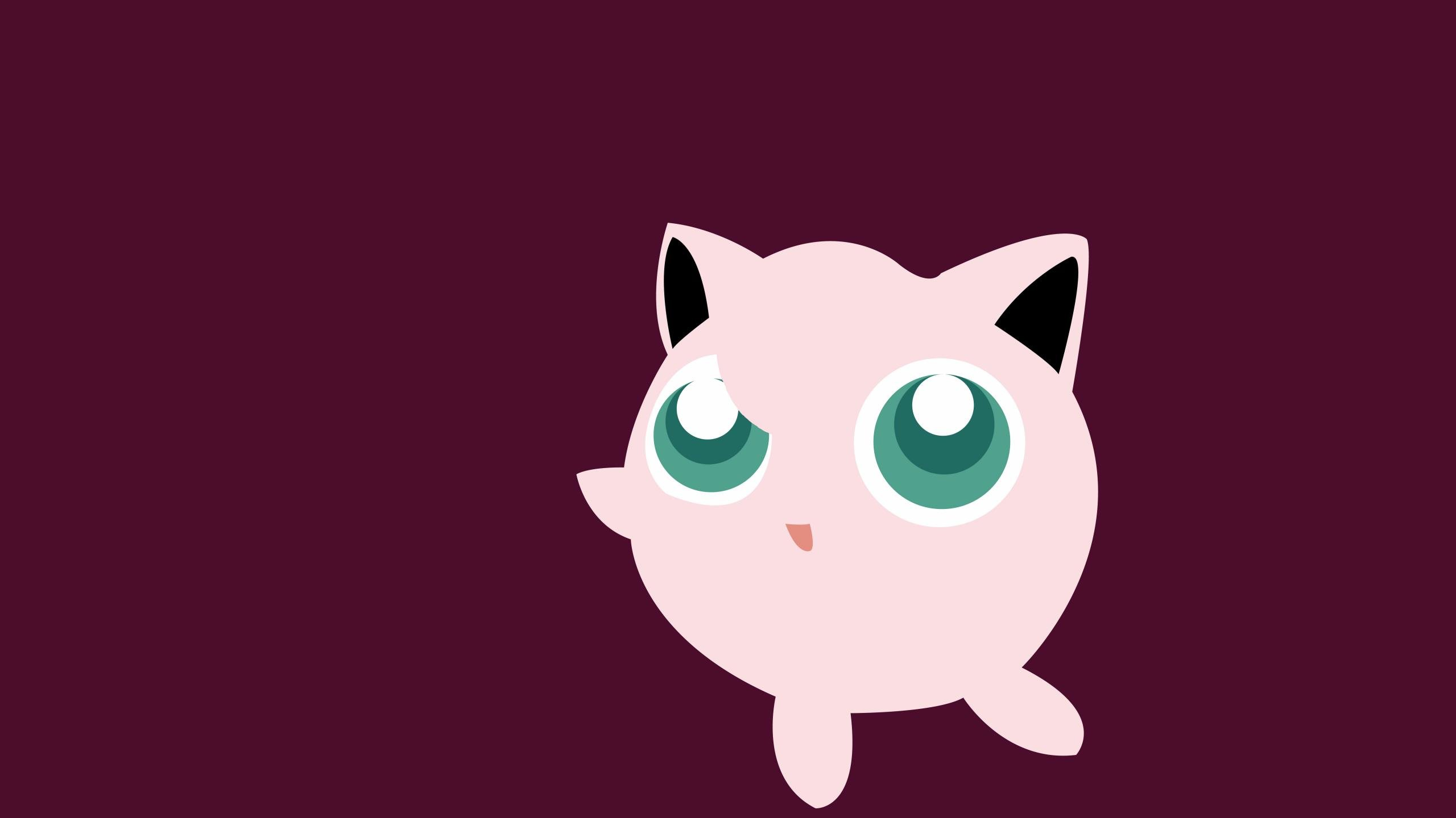 High Resolution Jigglypuff Pokemon Hd 2560x1440 Background Id