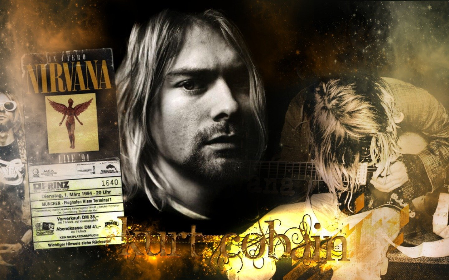Download Hd 1440x900 Kurt Cobain PC Wallpaper ID340570 For Free