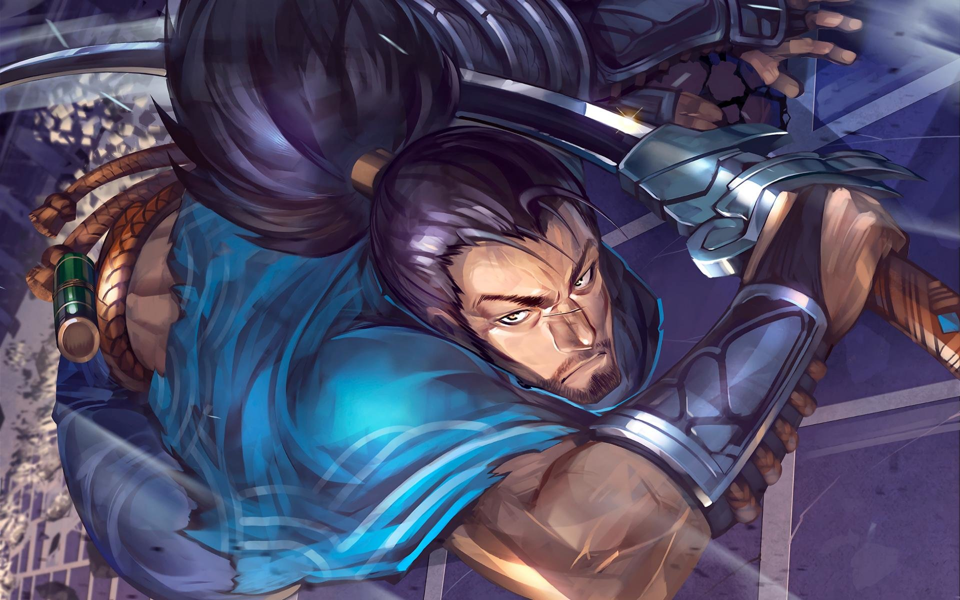 High Resolution Yasuo League Of Legends Hd 1920x1200 Wallpaper Id