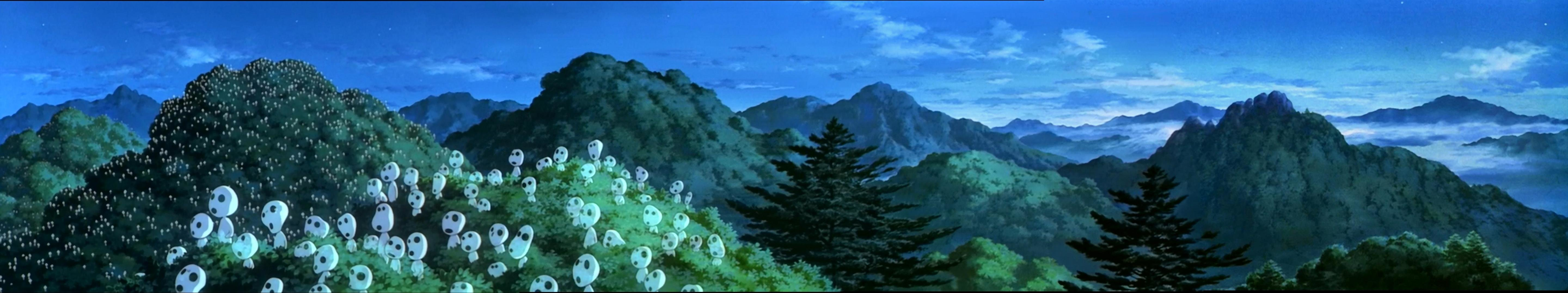 Download triple screen 5760x1080 Princess Mononoke desktop background ID:383782 for free