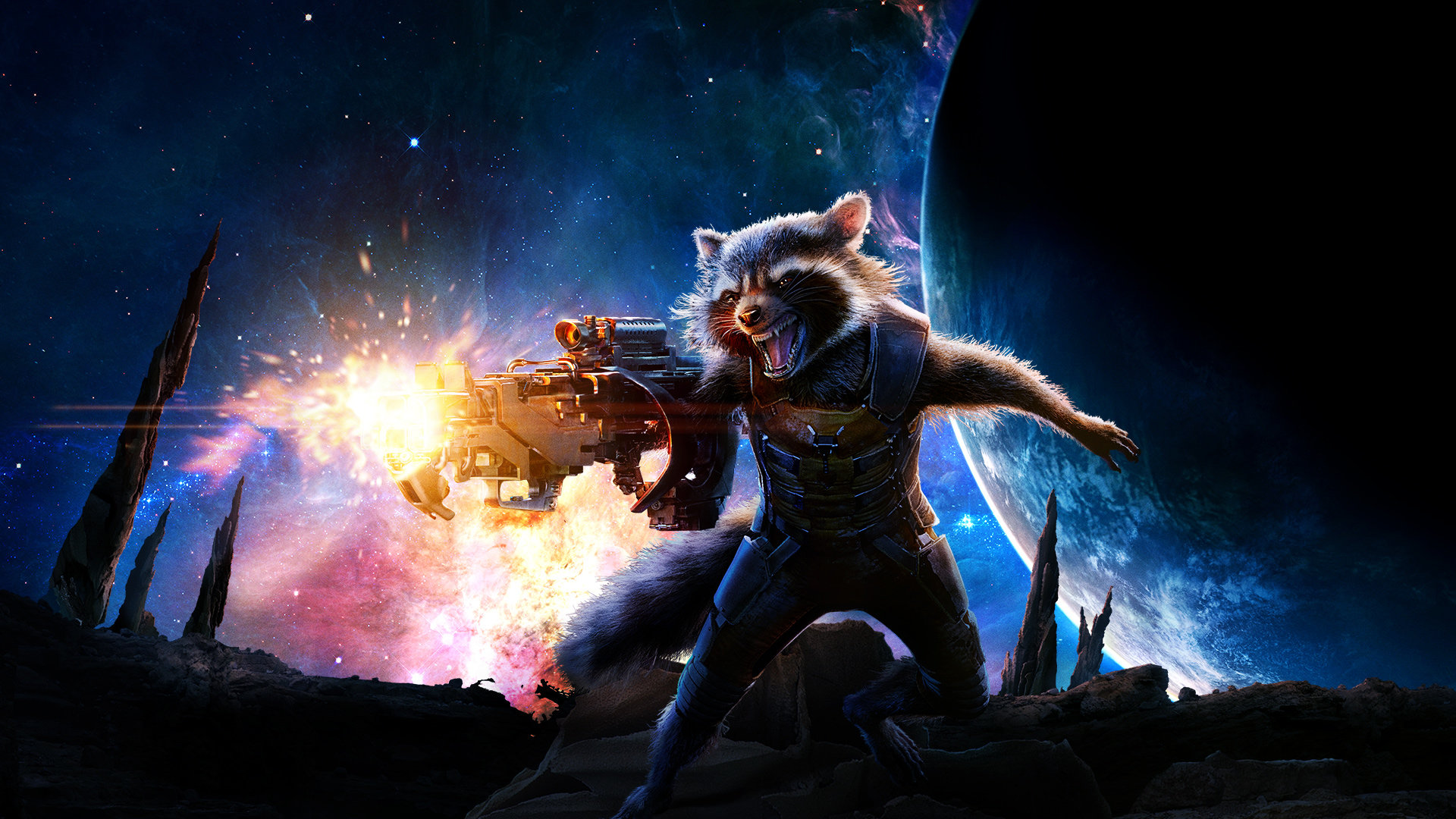 Guardians Of The Galaxy Hd Wallpaper: Rocket Raccoon Wallpapers 1920x1080 Full HD (1080p