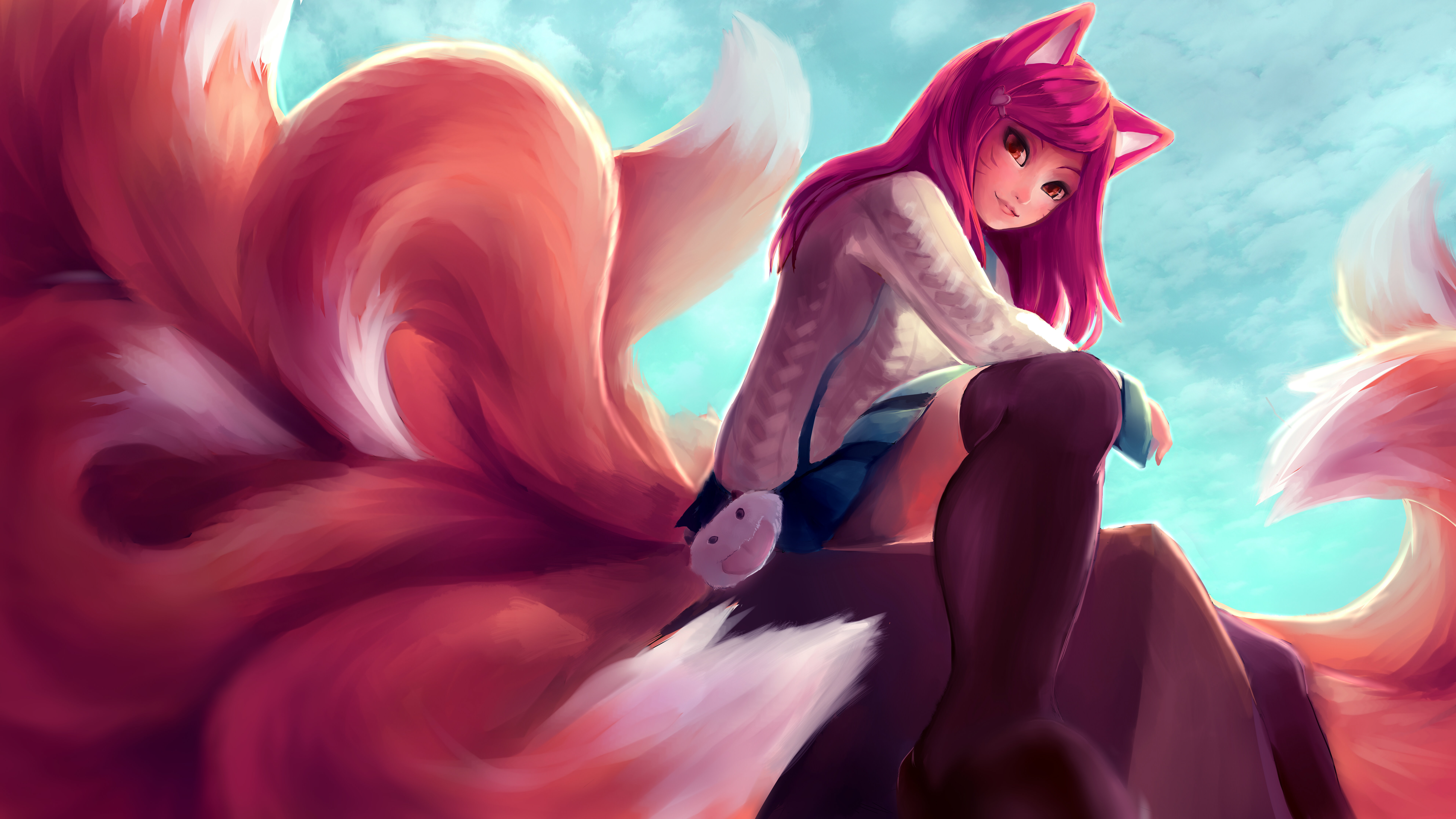 Awesome Ahri (League Of Legends) free wallpaper ID:170988 for 8k computer