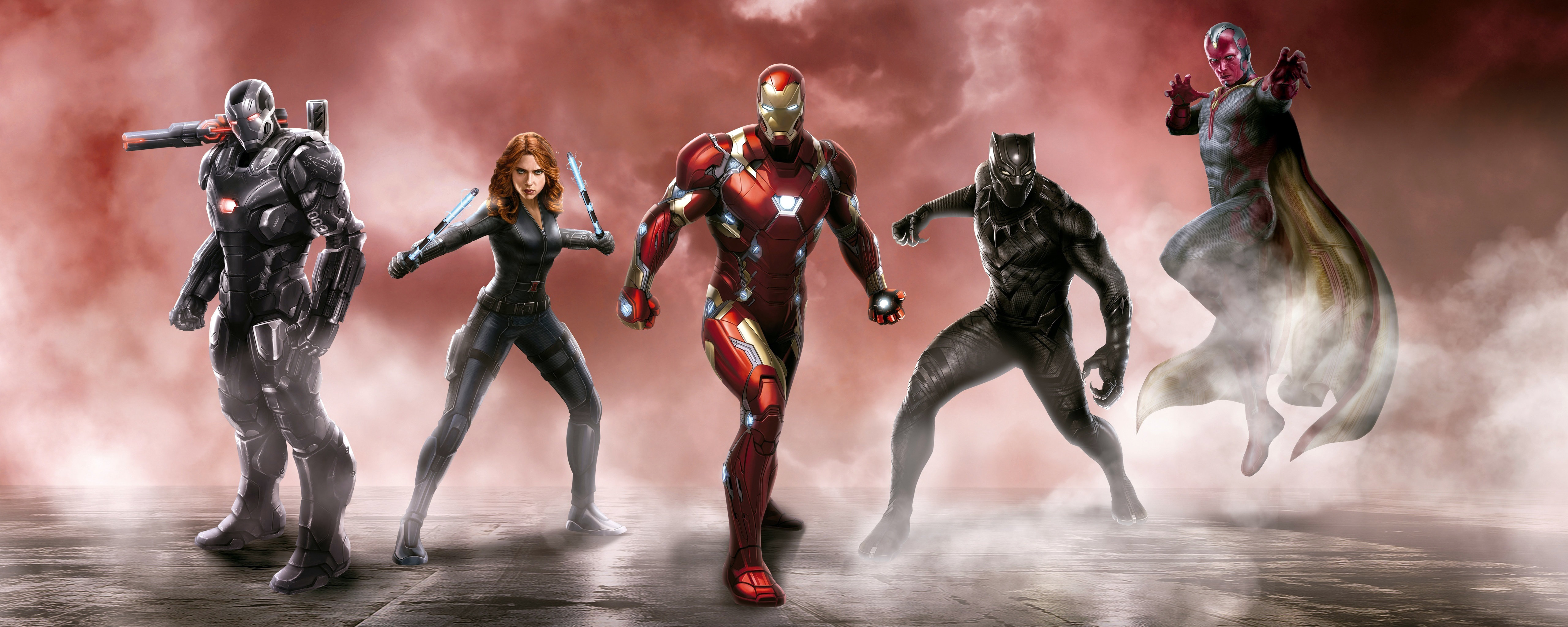 Awesome Captain America: Civil War free wallpaper ID:497796 for dual screen 5120x2048 PC