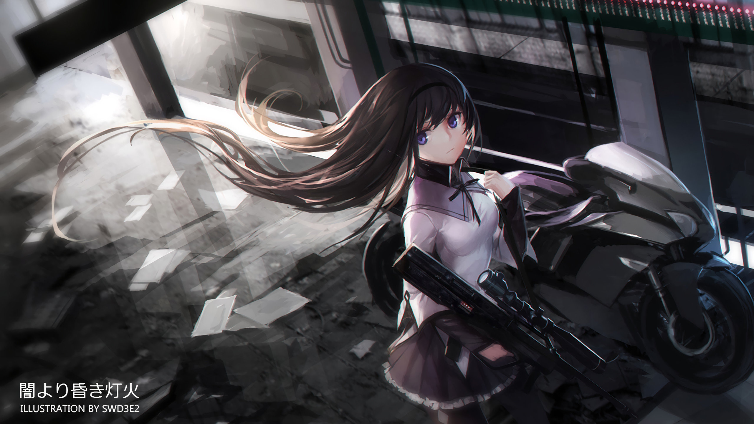 Download hd 2560x1440 Homura Akemi PC background ID:31508 for free