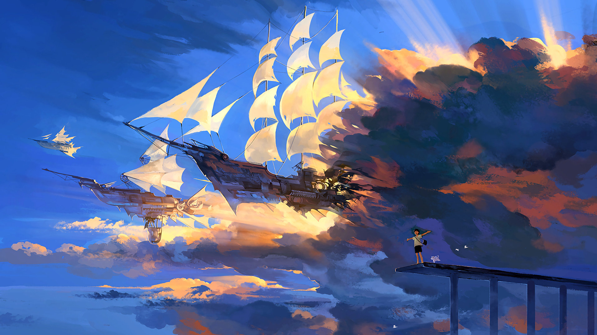 Free Download Fantasy Ship Wallpaper Id 194714 Full Hd 1080p For Desktop