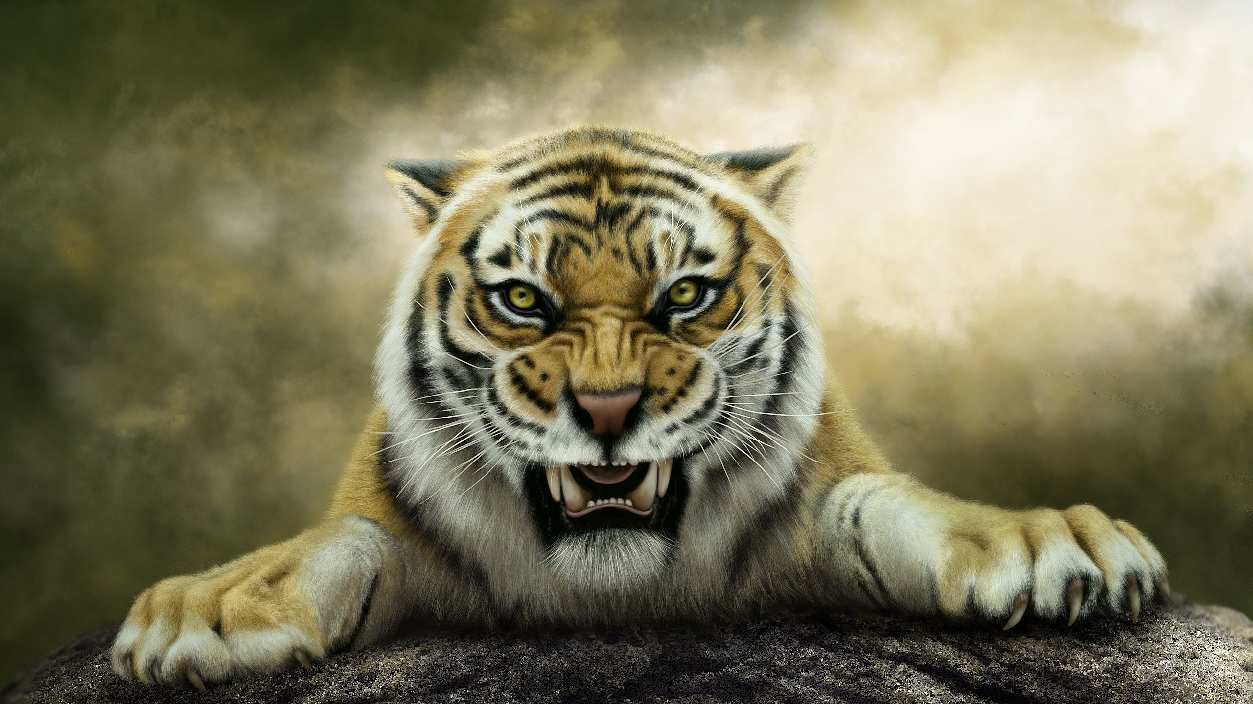 Free Tiger high quality wallpaper ID:115932 for hd 2560x1440 desktop