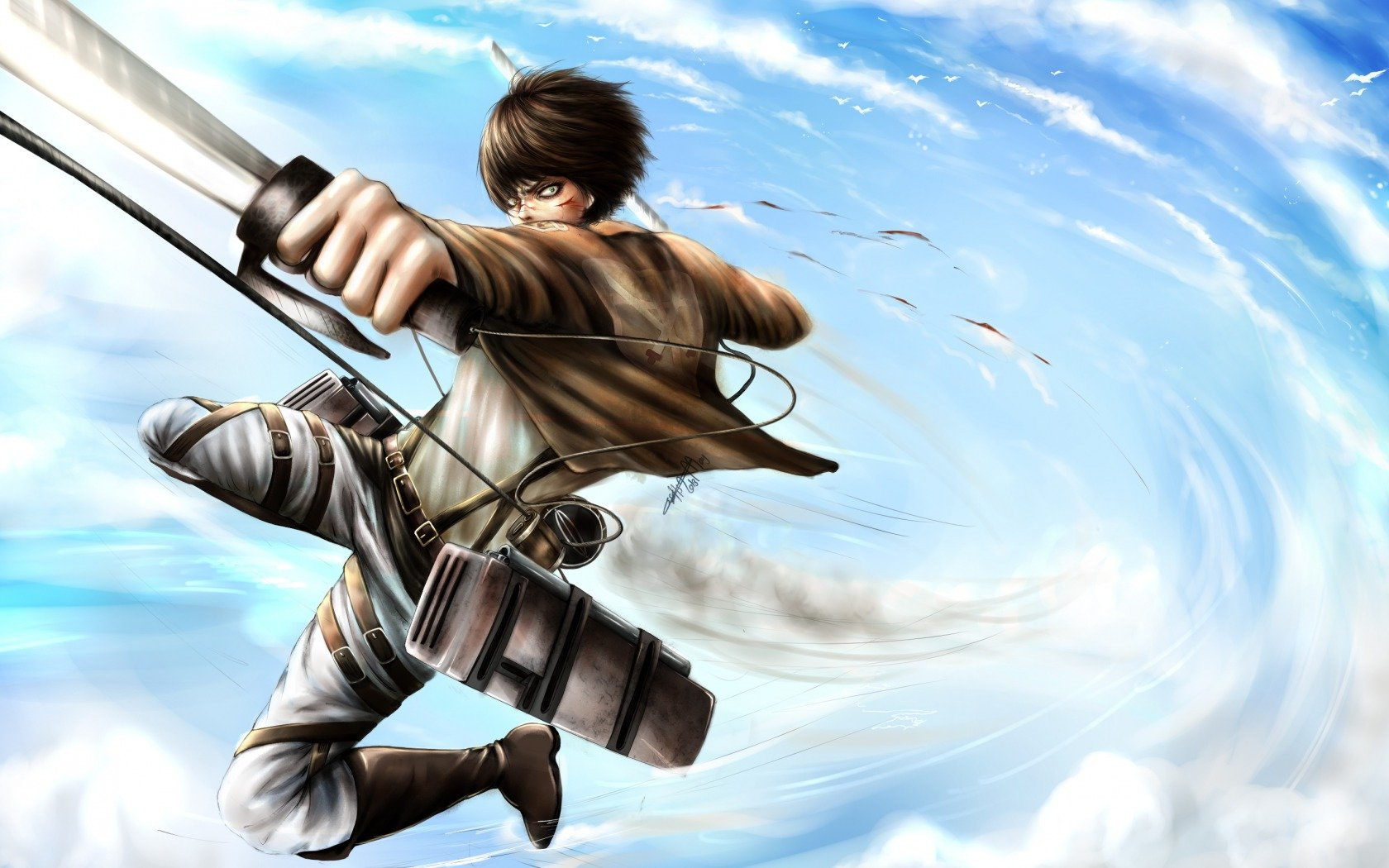 High resolution Eren Yeager hd 1680x1050 wallpaper ID:206587 for computer