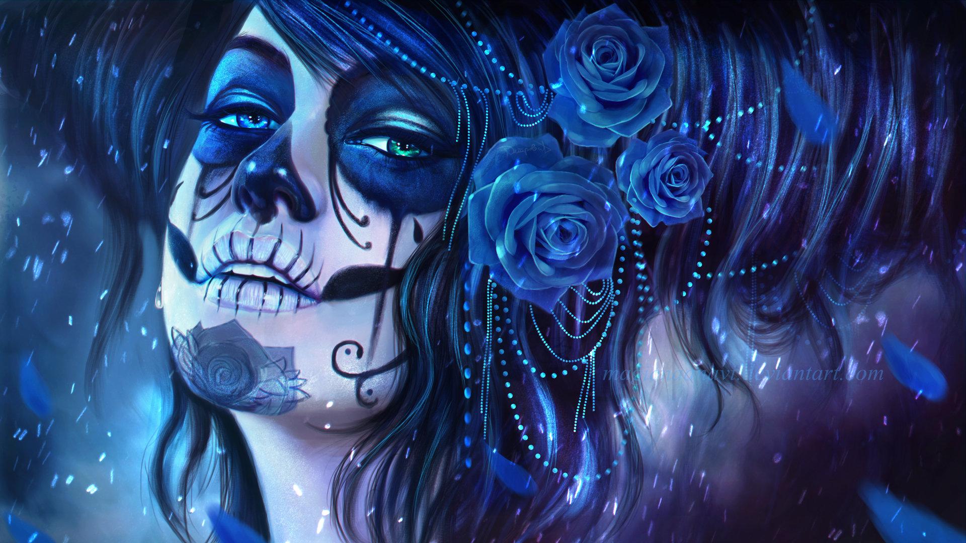 Free Download Sugar Skull Background ID497629 1080p For Desktop