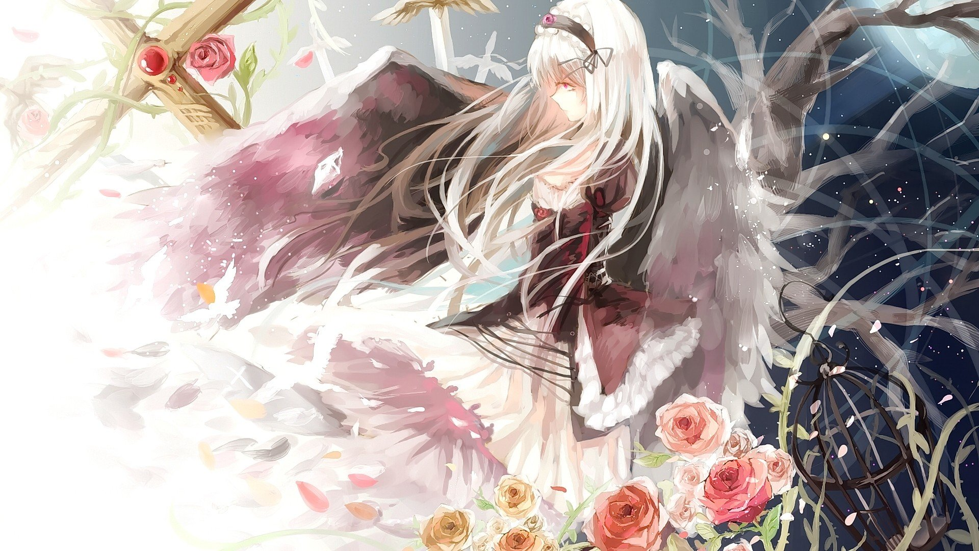 Free Suigintou (Rozen Maiden) high quality wallpaper ID:357456 for full hd 1920x1080 desktop