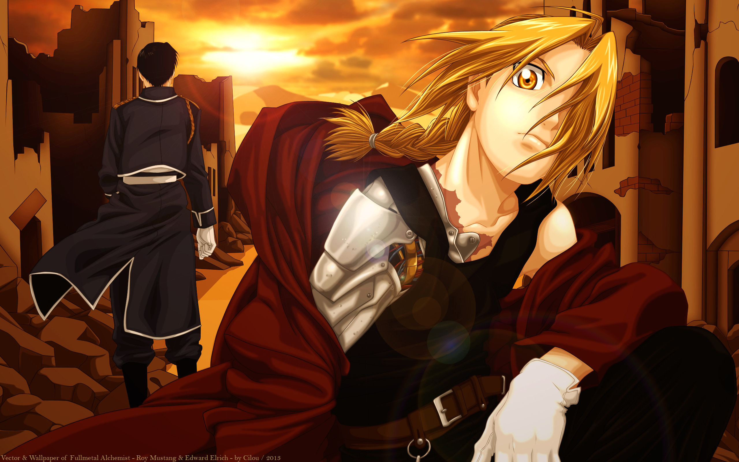 Download hd 2560x1600 Edward Elric PC background ID:310731 for free