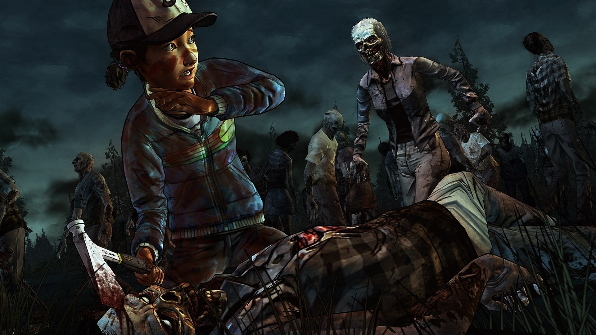 Clementine The Walking Dead Wallpapers 1920x1080 Full Hd 1080p