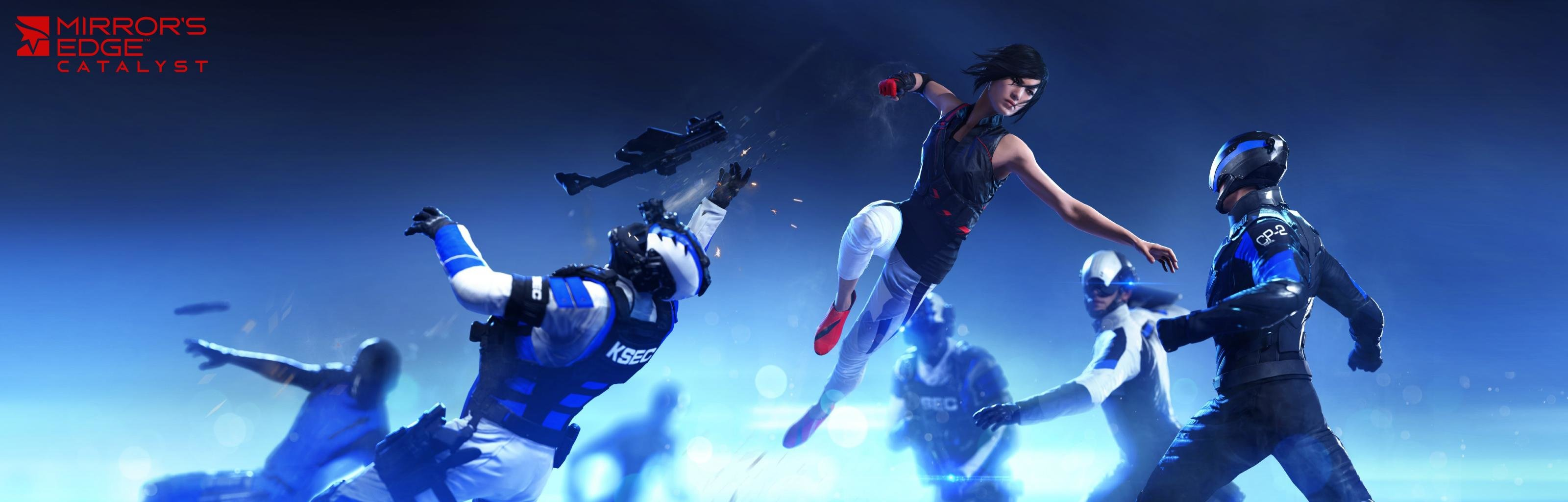 Download dual screen 3200x1024 Mirror's Edge Catalyst computer background ID:219575 for free
