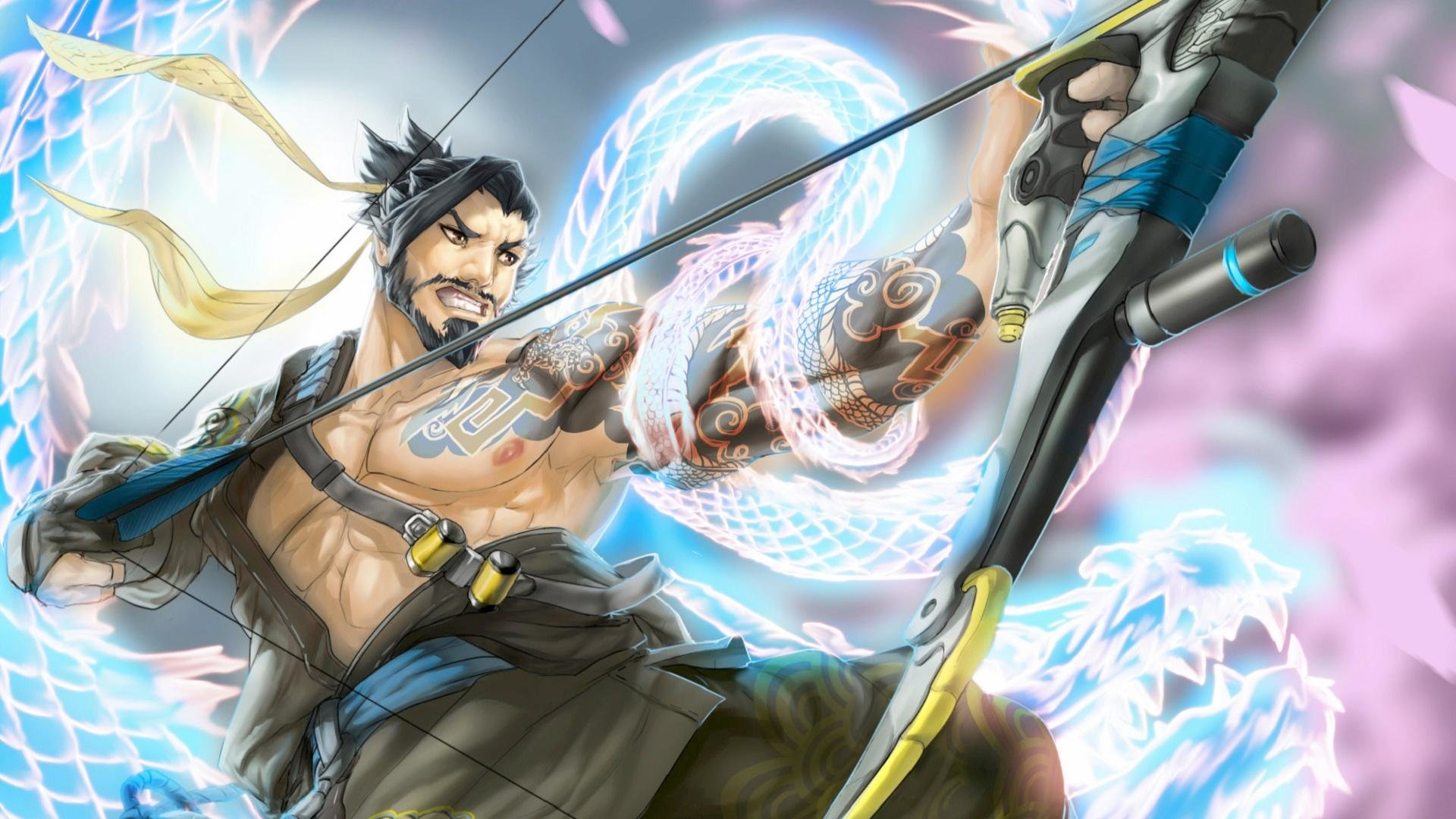 hanzo (overwatch) wallpapers 1920x1080 full hd (1080p) desktop