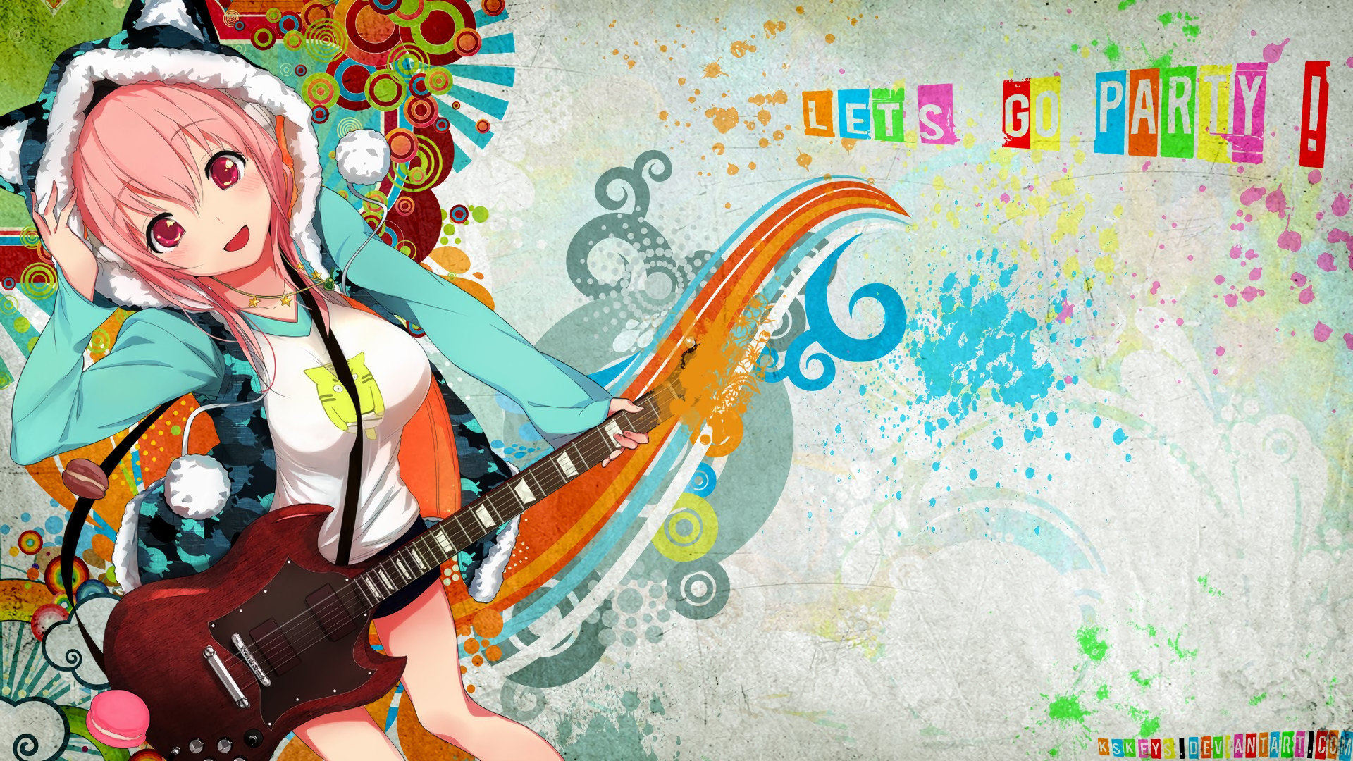 Download full hd Super Sonico PC background ID:211290 for free