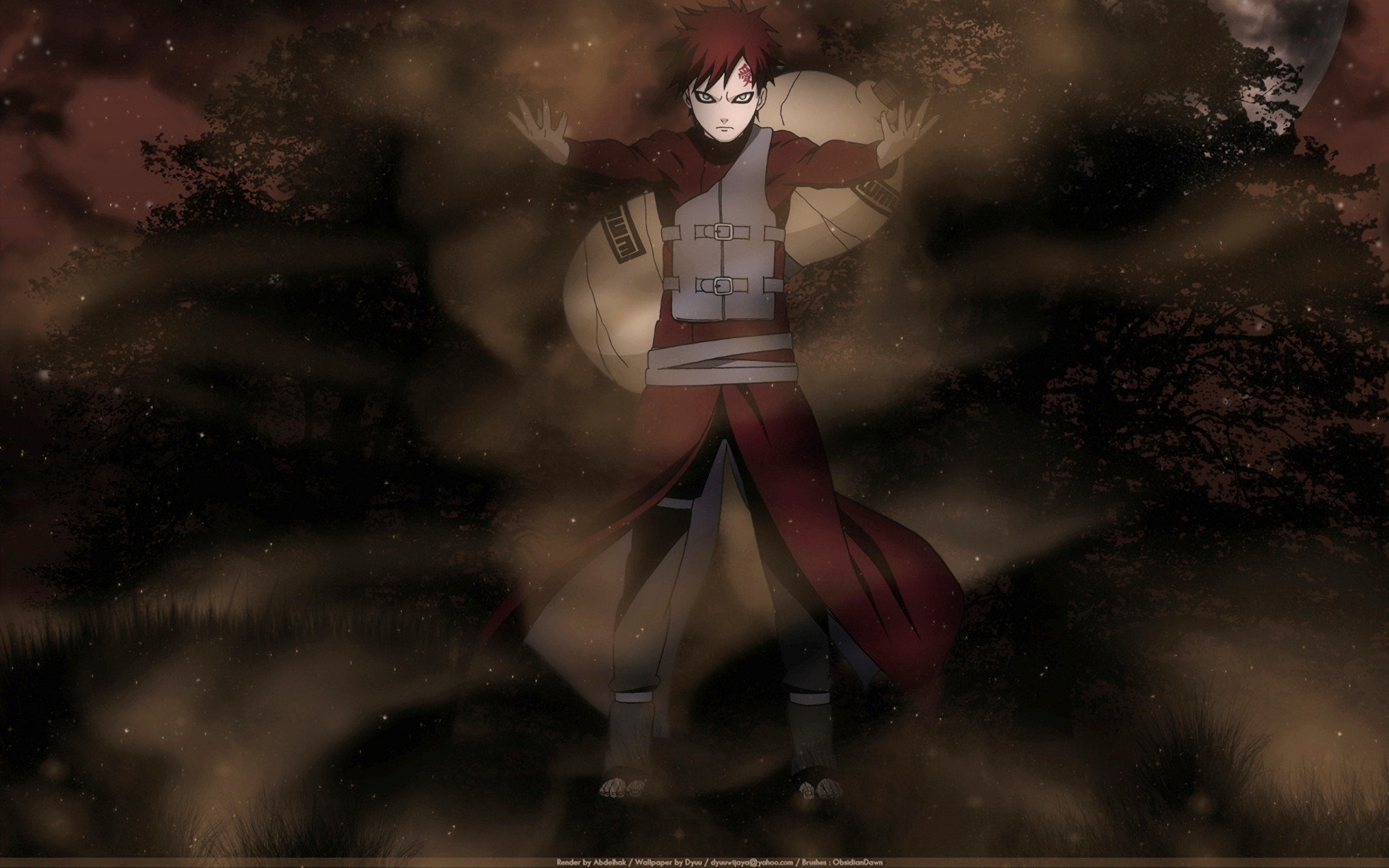 High resolution Gaara (Naruto) hd 1920x1200 wallpaper ID:395831 for desktop