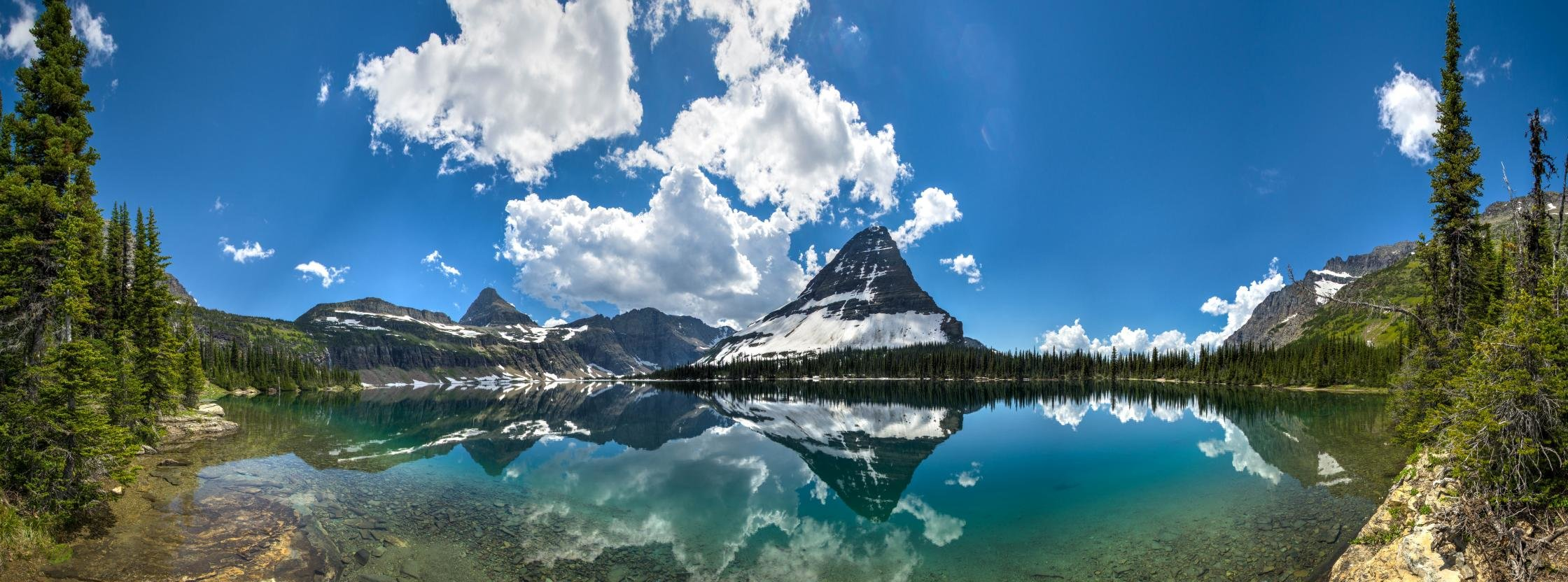 Free Glacier National Park high quality background ID:254238 for dual screen 2240x832 desktop