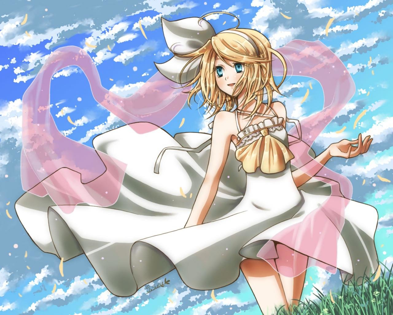 High resolution Rin Kagamine hd 1280x1024 wallpaper ID:2333 for computer