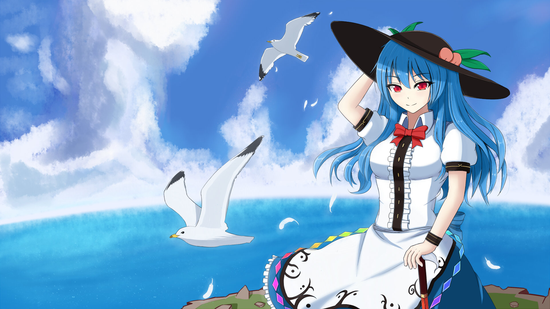 Awesome Tenshi Hinanawi free wallpaper ID:225028 for full hd PC