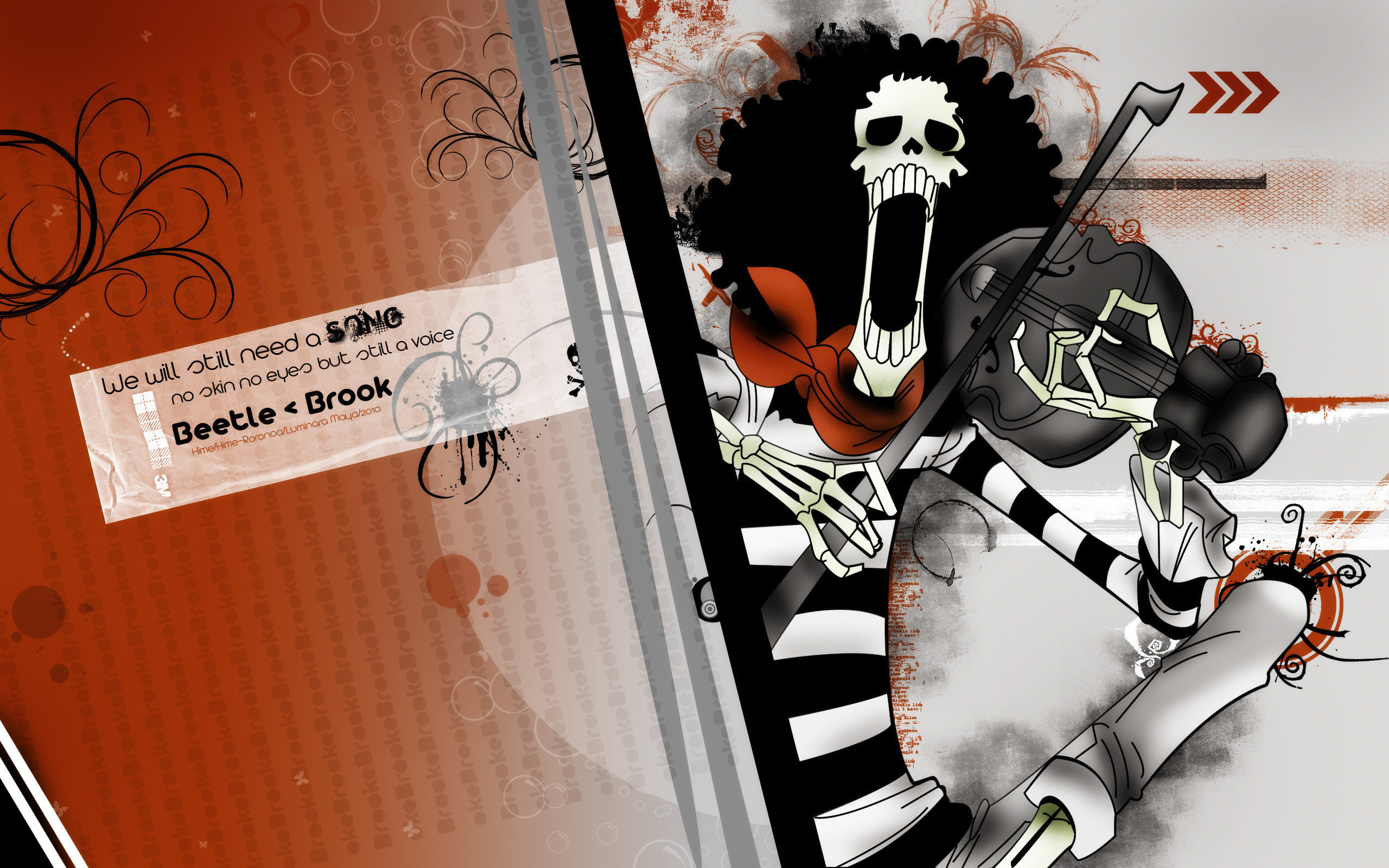 Download hd 2560x1600 Brook (One Piece) PC background ID:314840 for free