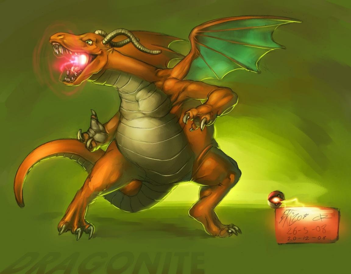 High resolution Dragonite (Pokemon) hd 1152x900 background ID:279940 for PC