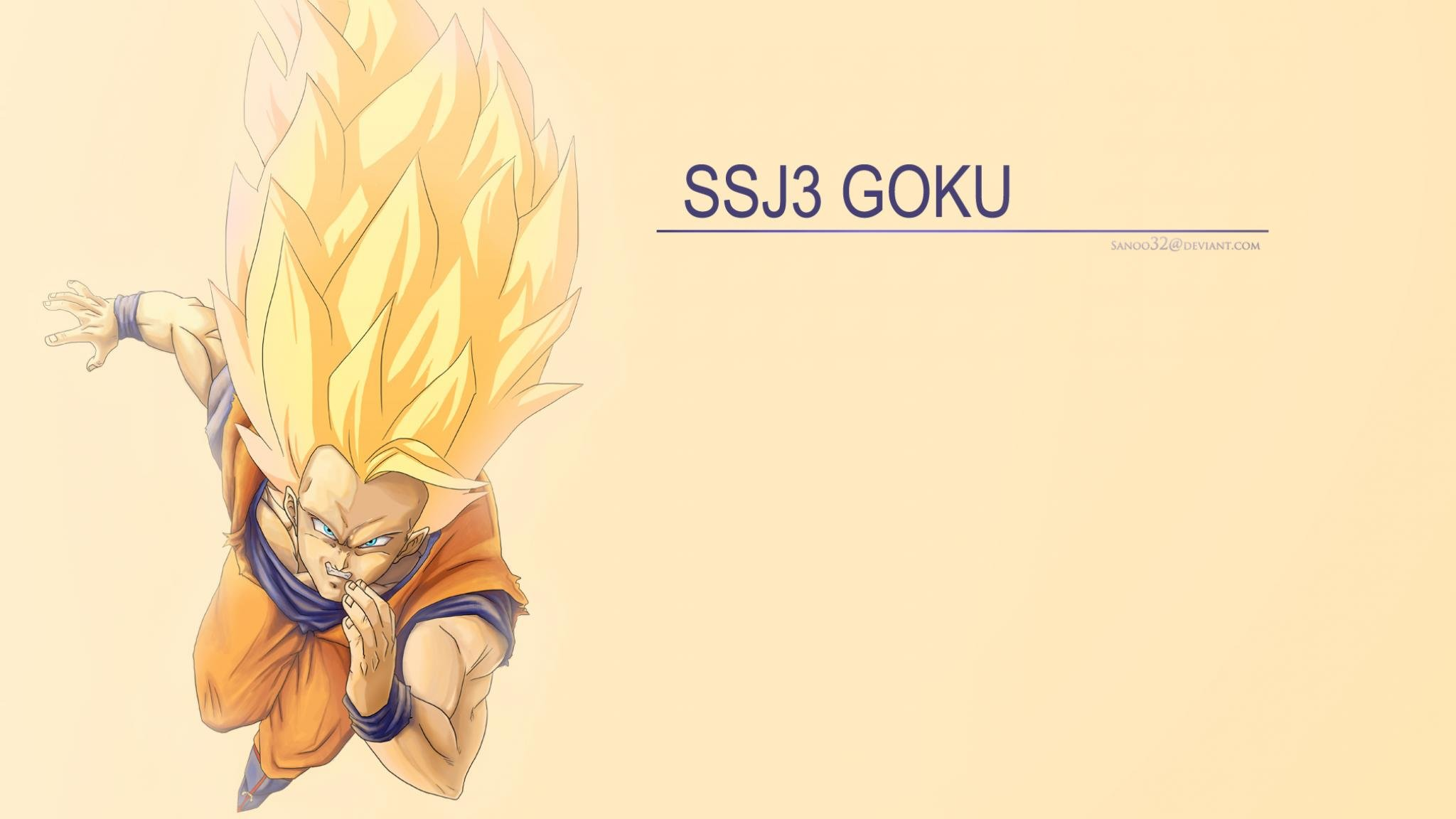 Awesome Goku free wallpaper ID:462098 for hd 2048x1152 PC