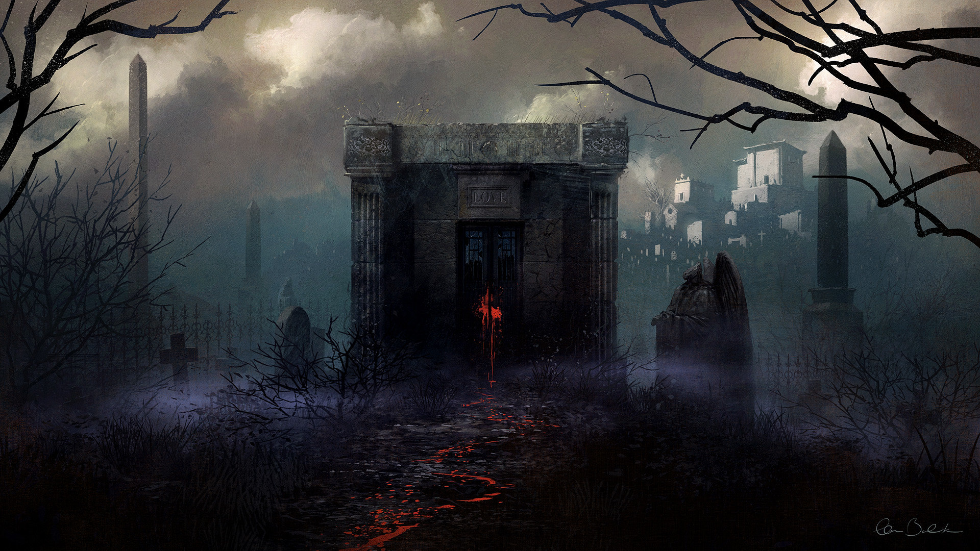 Awesome Dark cemetery free background ID:318795 for full hd PC