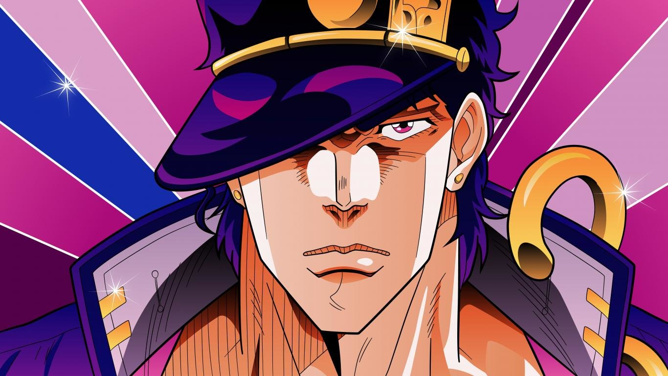 Download 1366x768 laptop Jojo's Bizarre Adventure PC wallpaper ID:296845 for free