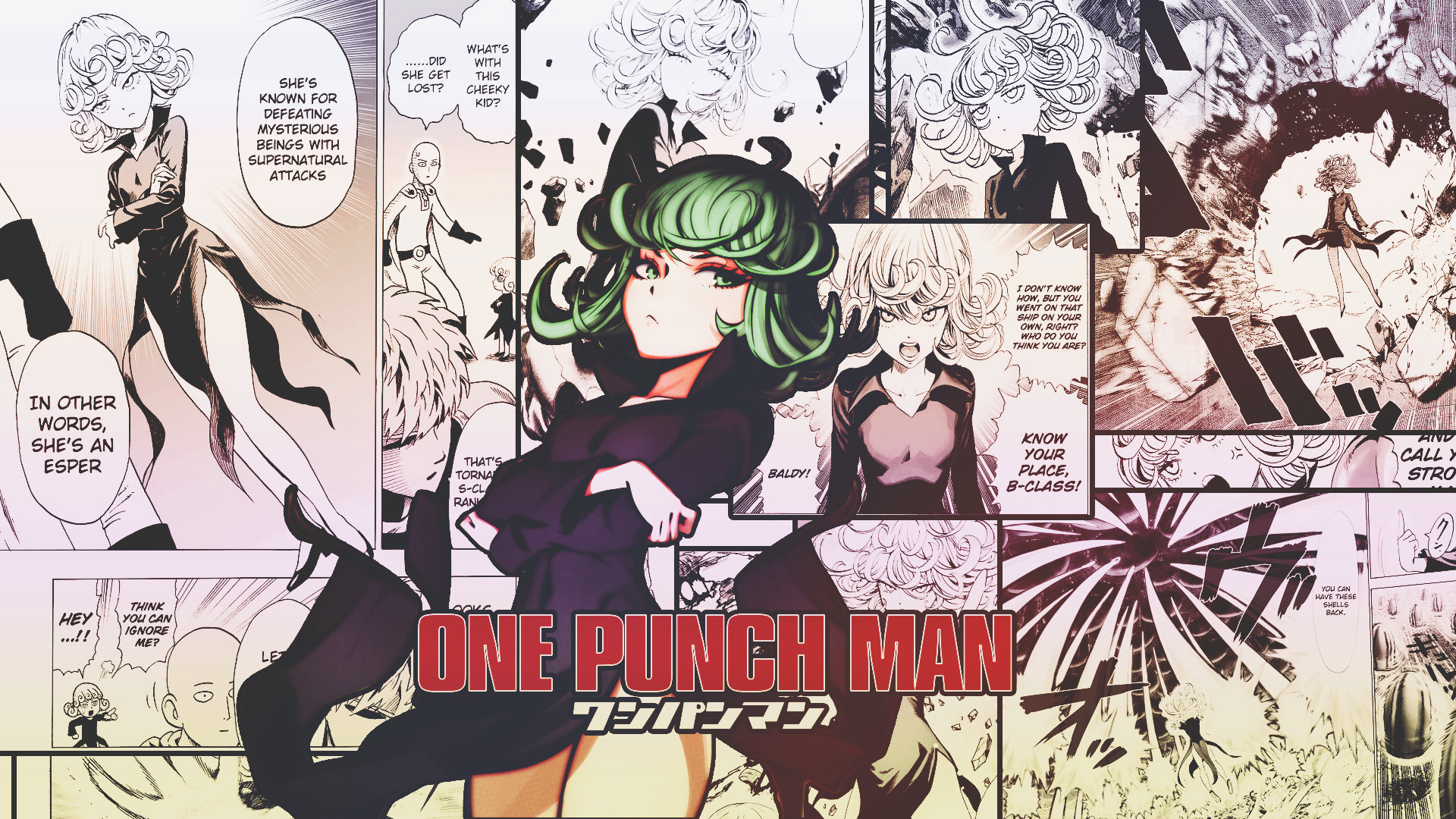 Awesome Tatsumaki (One-Punch Man) free background ID:345330 for hd 1920x1080 computer