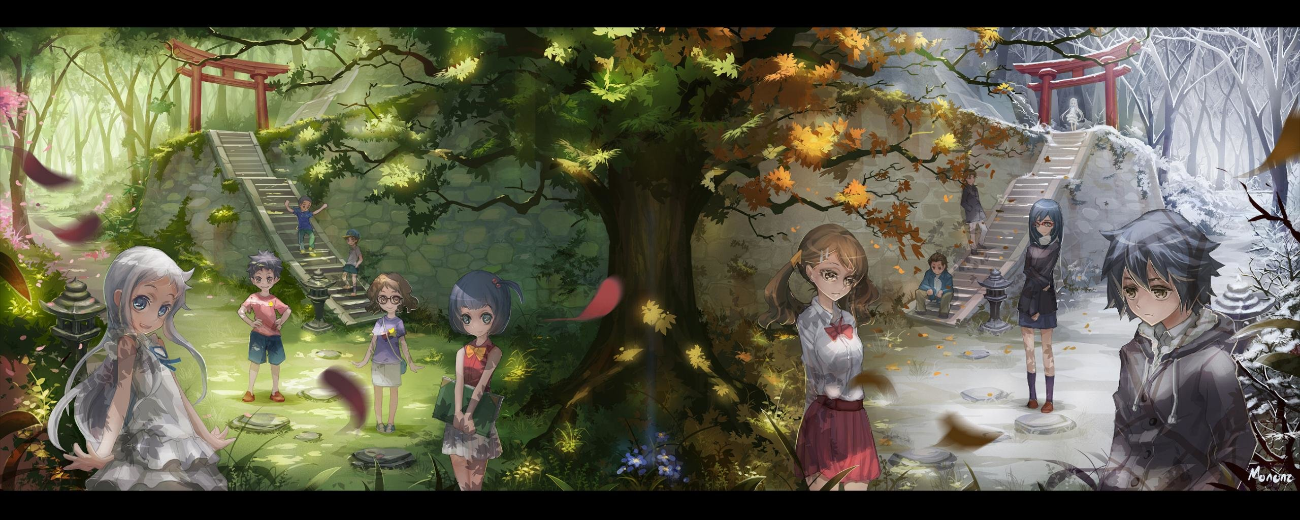 Free Anohana high quality background ID:382095 for dual screen 2560x1024 PC
