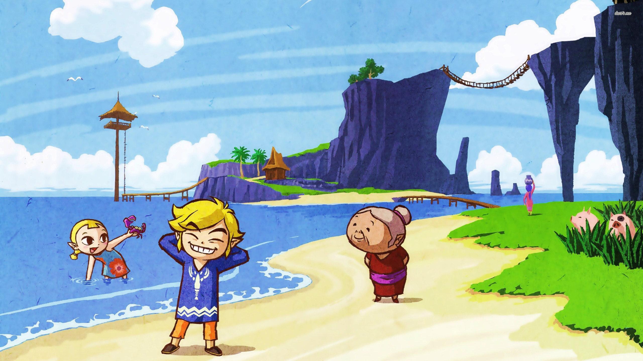 Wind Waker Hd Wallpaper: The Legend Of Zelda Wallpapers 2560x1440 Desktop Backgrounds