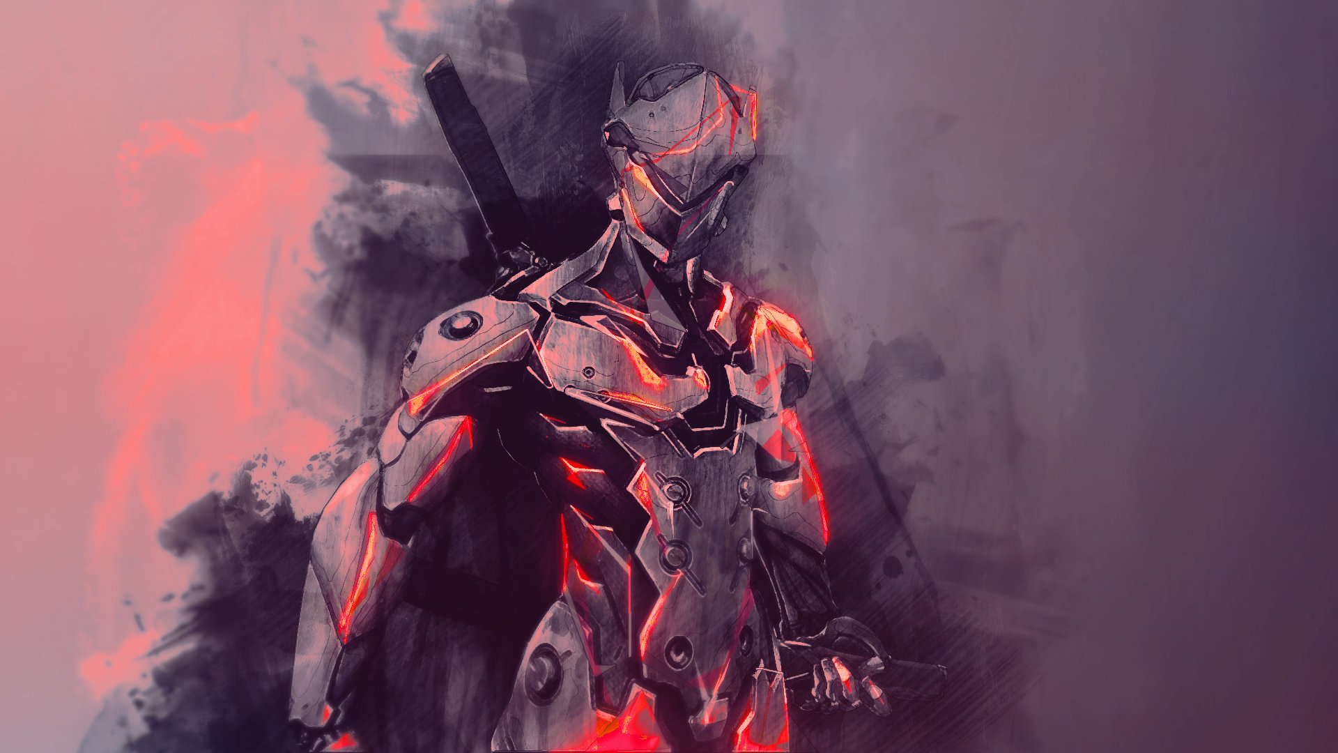 High Resolution Genji Overwatch Hd 1920x1080 Wallpaper Id
