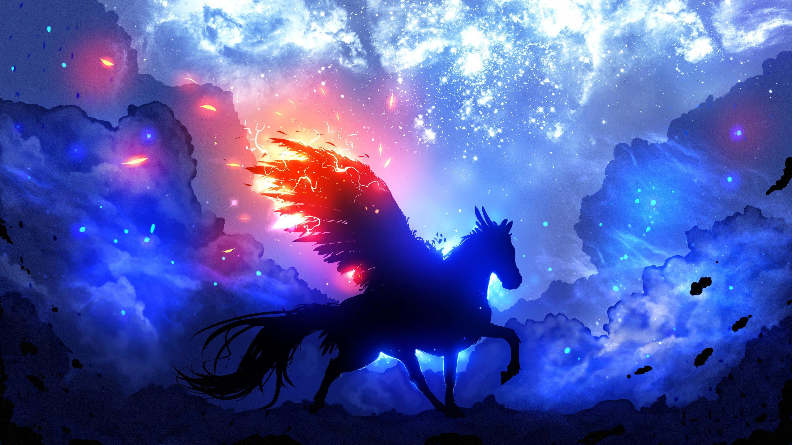 download hd 2560x1440 horse fantasy desktop background id:282530 for