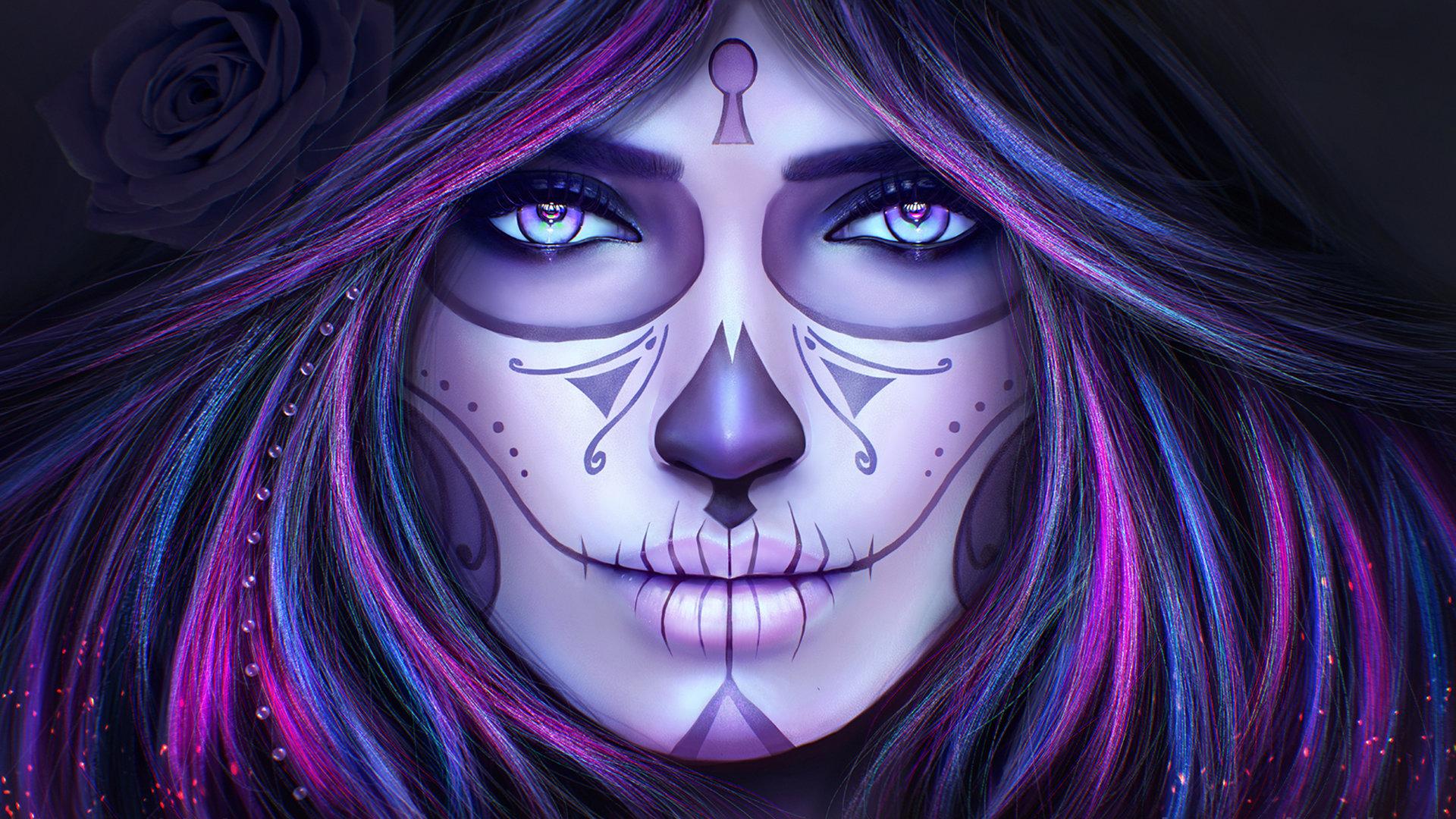 Best Sugar Skull Wallpaper Id 497621 For High Resolution Full Hd