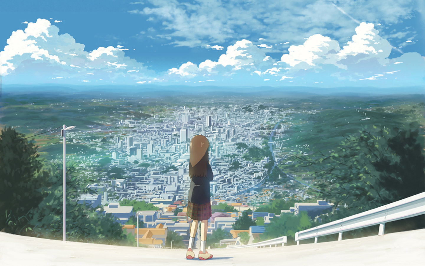 Free Anime city high quality background ID:118688 for hd 1440x900 computer