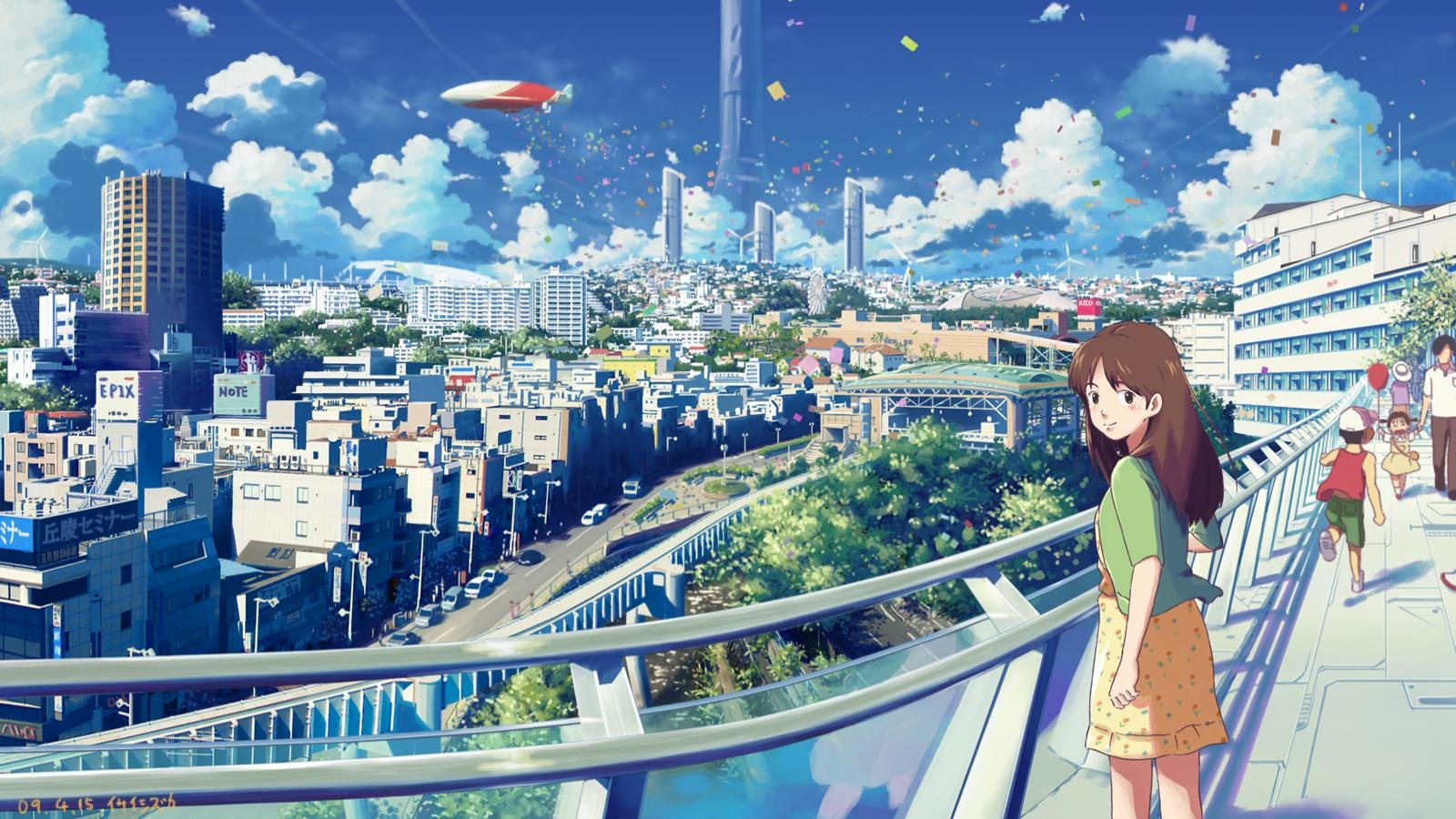 Download hd 1600x900 Anime city computer wallpaper ID:118694 for free