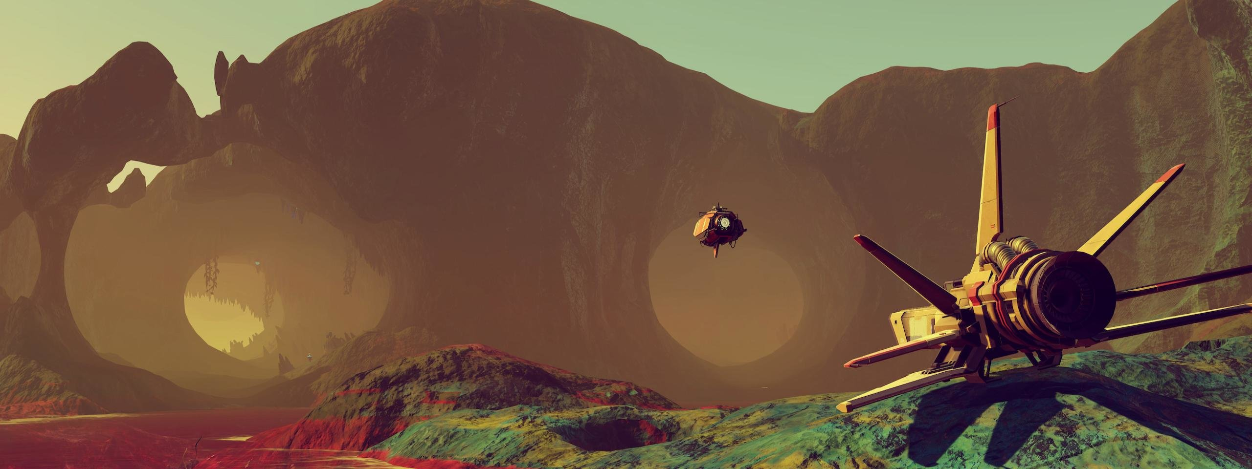 Best No Man's Sky wallpaper ID:110429 for High Resolution dual screen 2560x960 PC