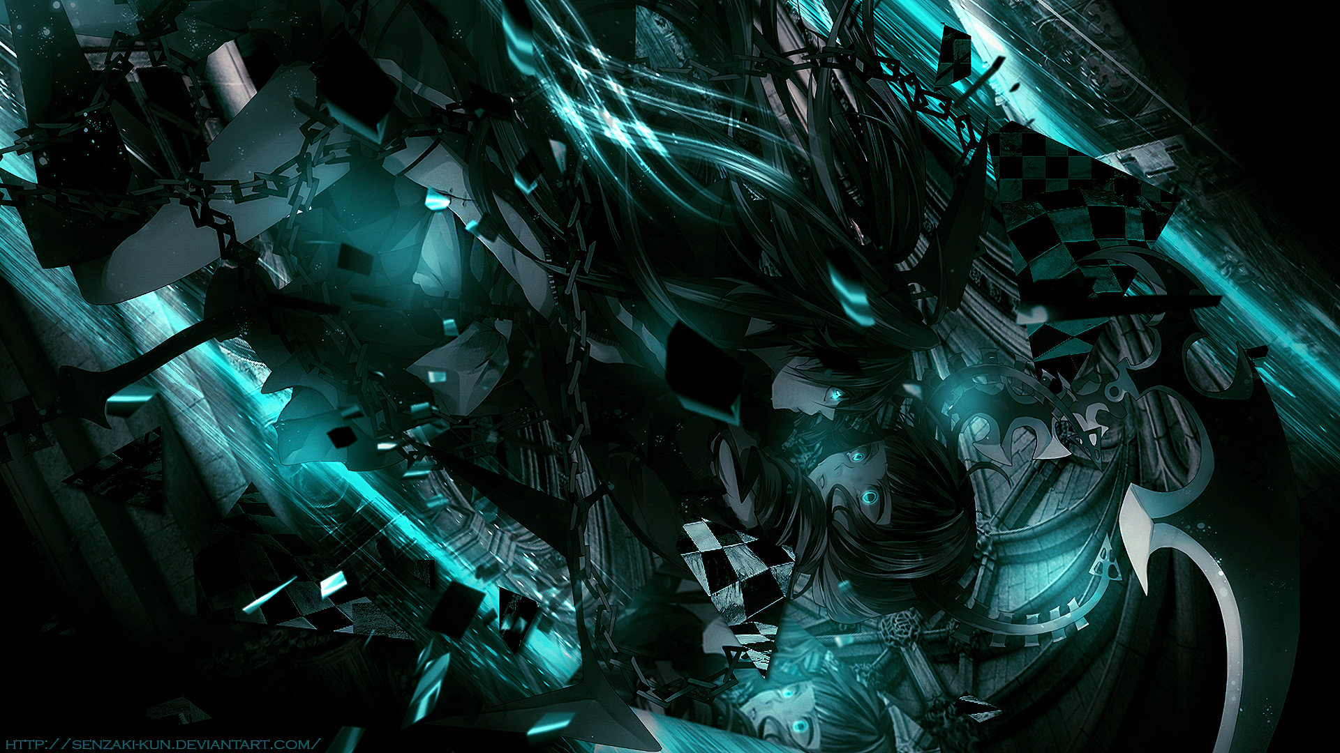 Awesome Dead Master (Black Rock Shooter) free wallpaper ID:453922 for hd 1920x1080 desktop