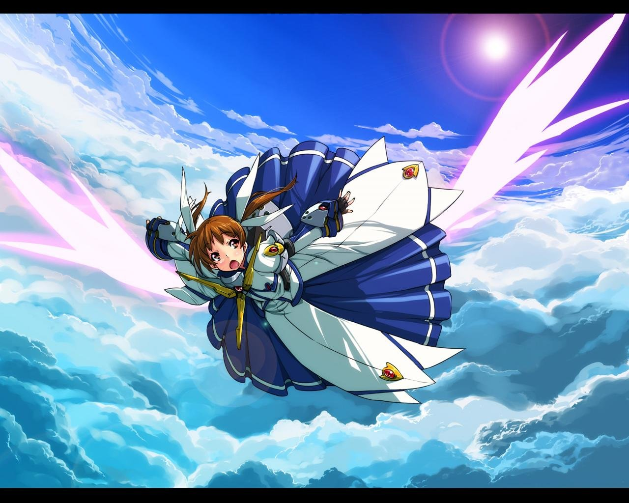 Download hd 1280x1024 Magical Girl Lyrical Nanoha computer background ID:297519 for free