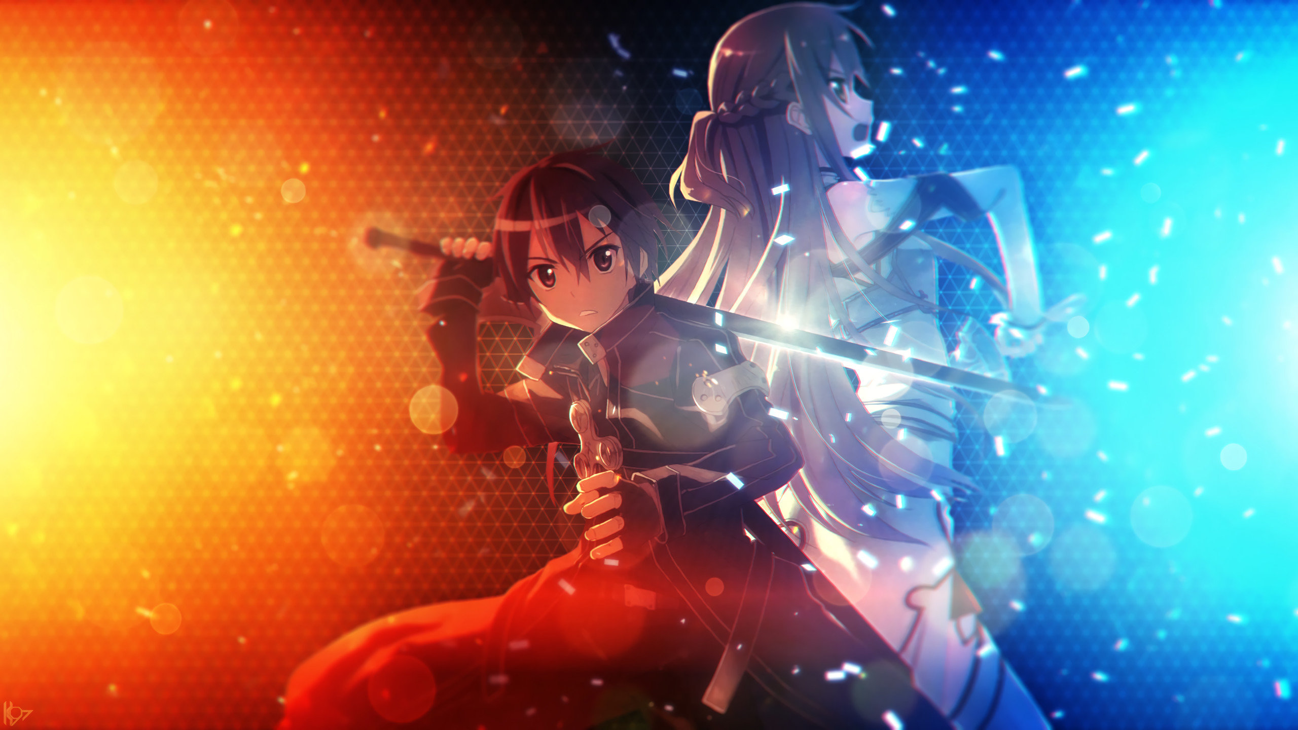 Sword Art Online Background: Asuna Yuuki Wallpapers 2560x1440 Desktop Backgrounds