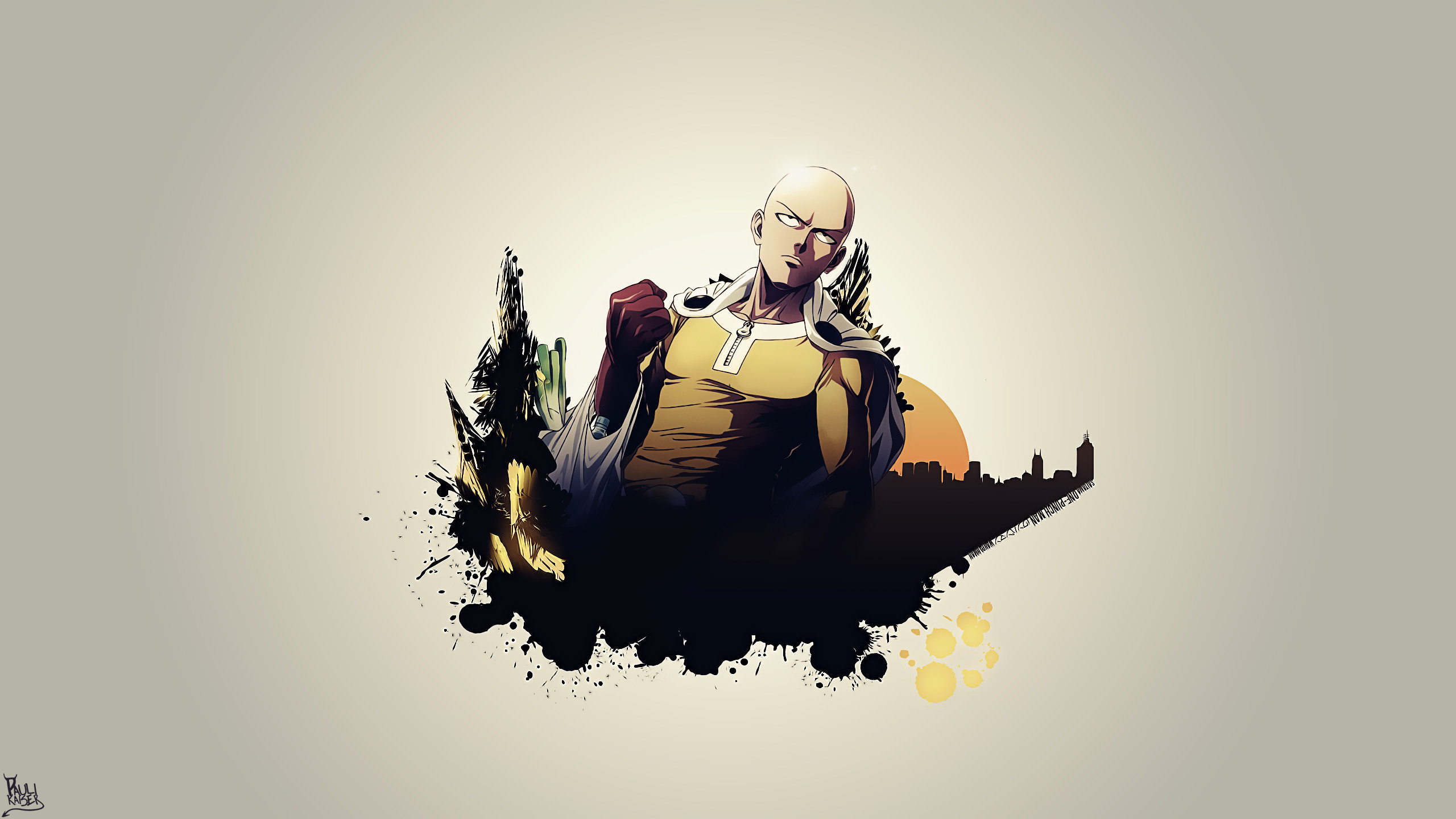 Free Saitama (One-Punch Man) high quality background ID:345389 for hd 2560x1440 desktop