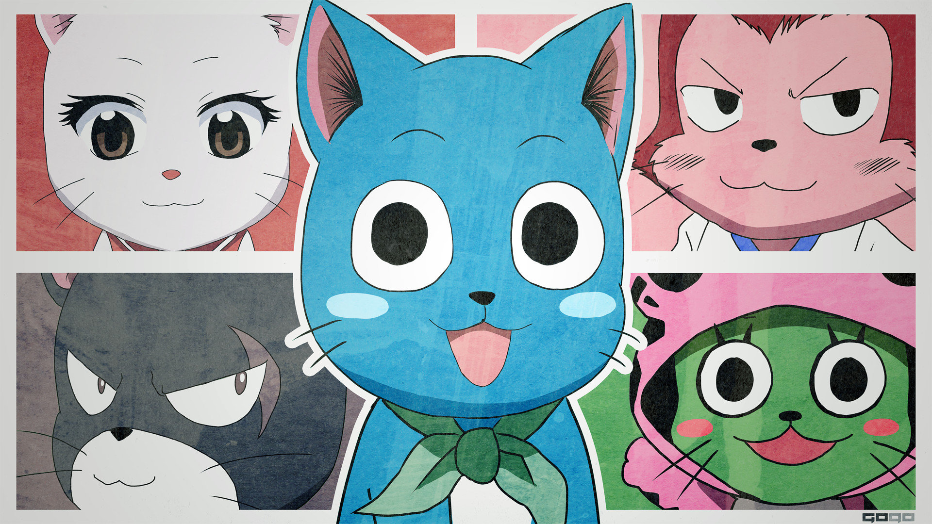 Download hd 1920x1080 Happy (Fairy Tail) desktop background ID:41393 for free